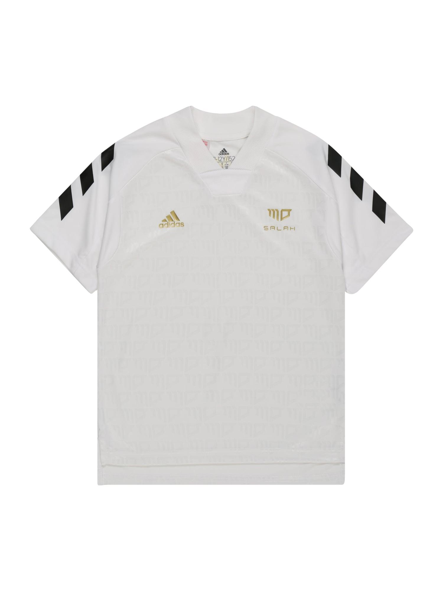 ADIDAS PERFORMANCE Sportiniai marškinėliai balta / juoda / auksas