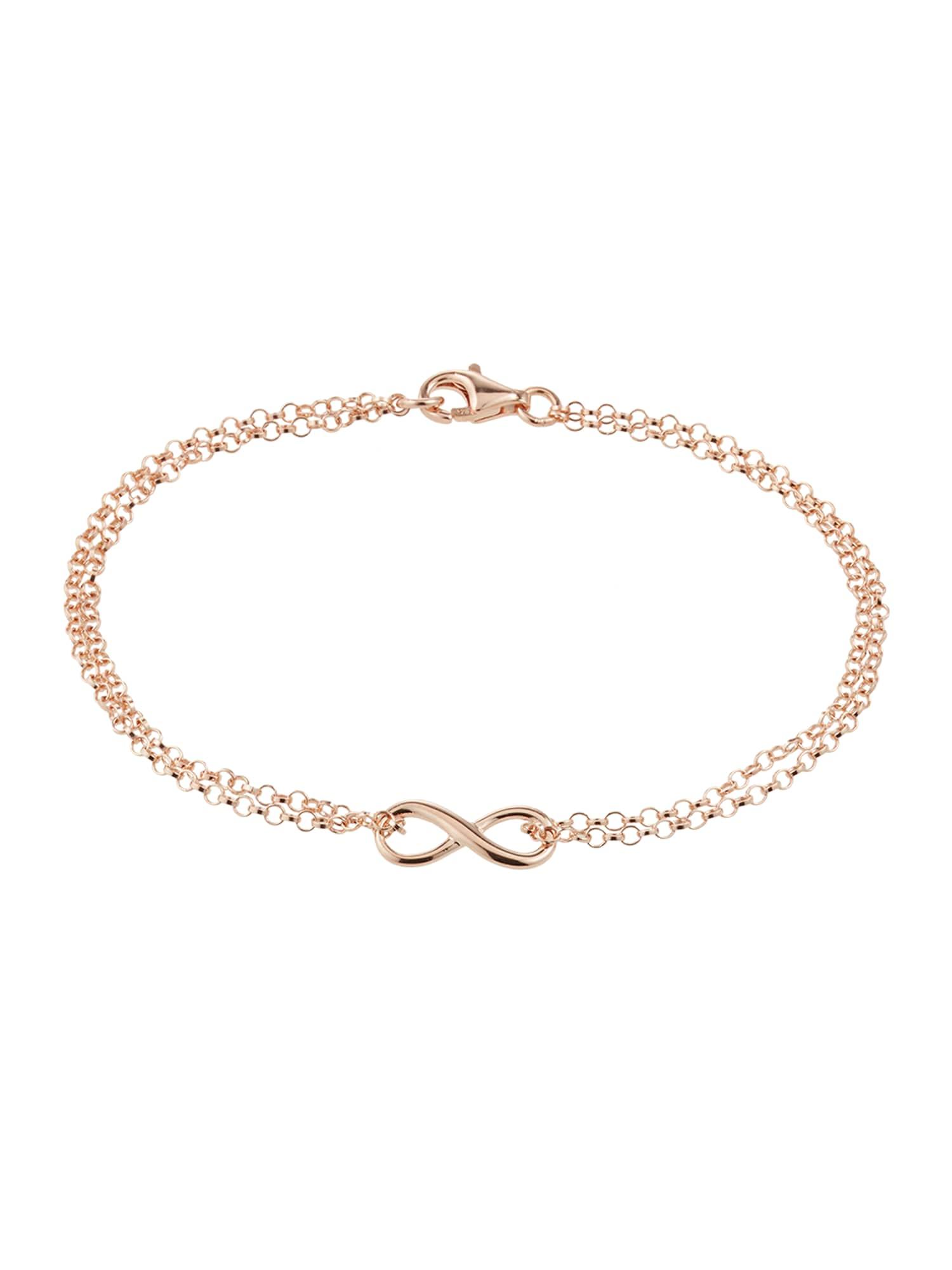 ELLI Náramek 'Infinity'  růžově zlatá