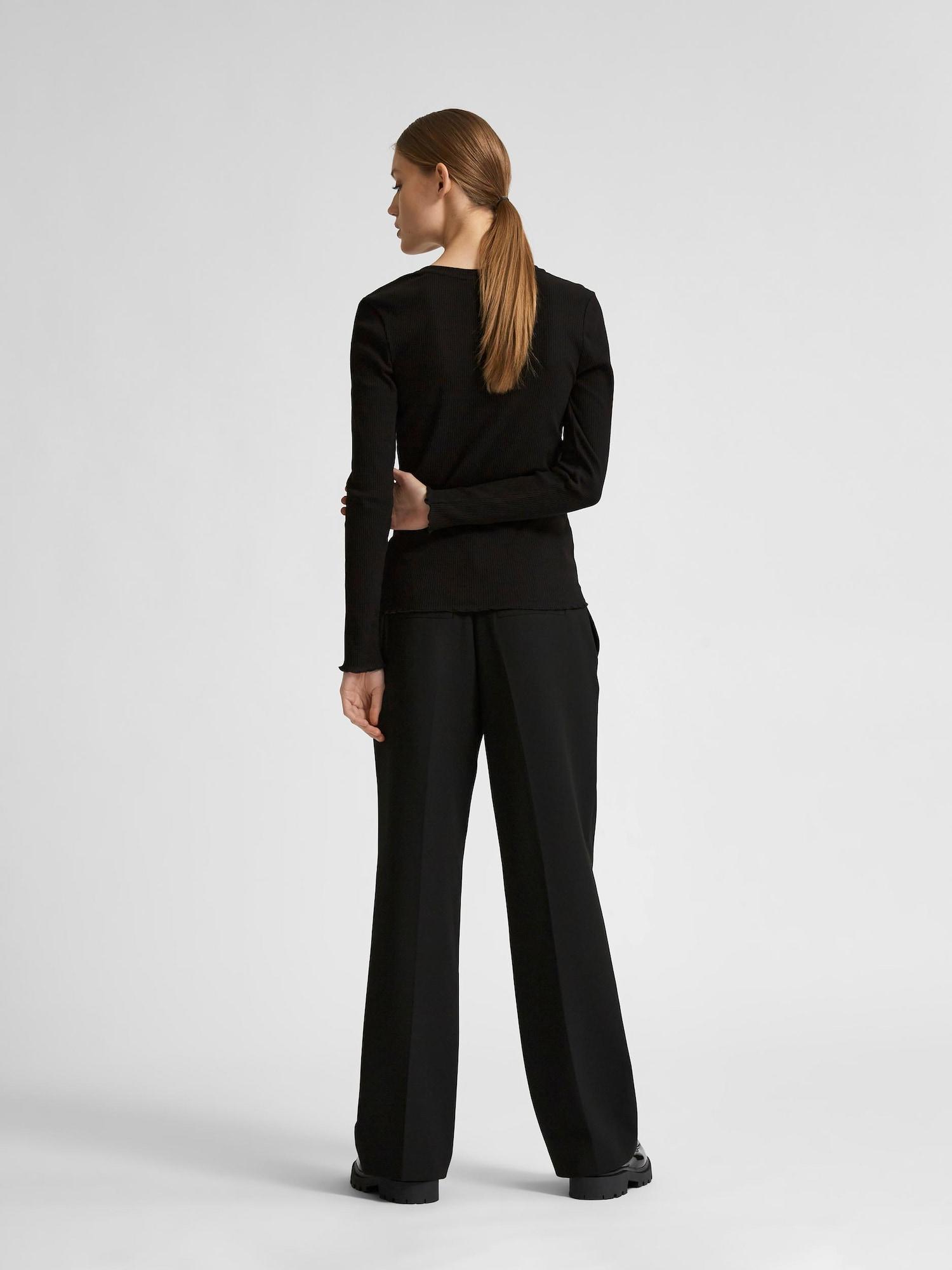 Selected Femme Petite Marškinėliai juoda