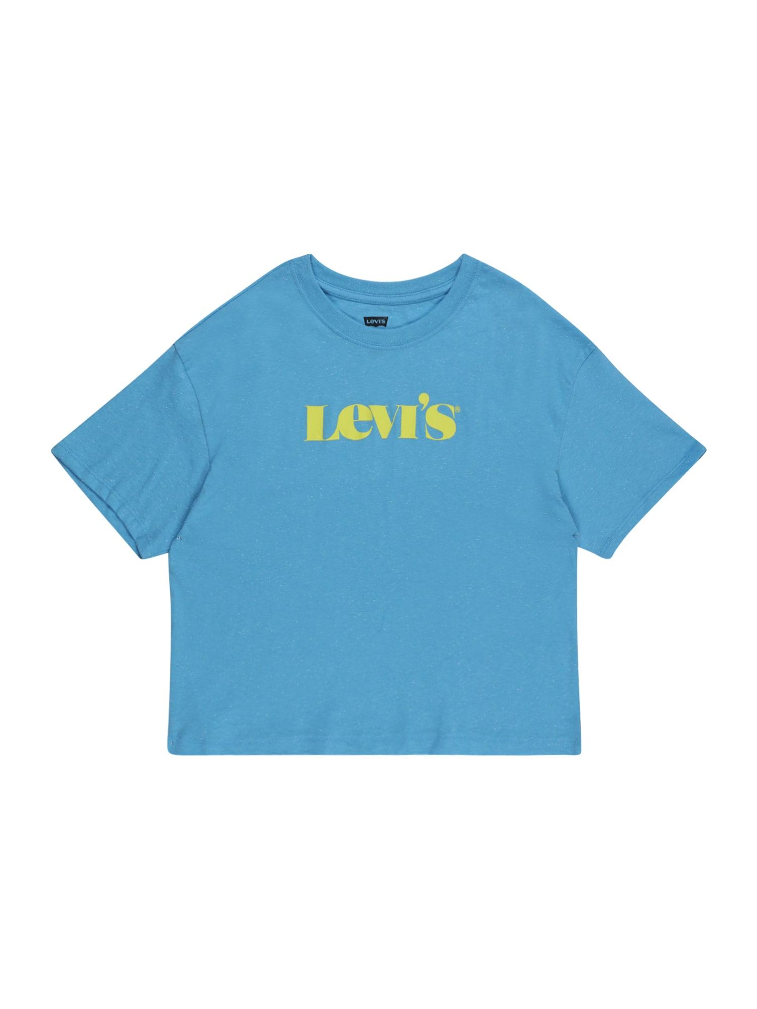LEVI'S Tričko  nebeská modř / žlutá