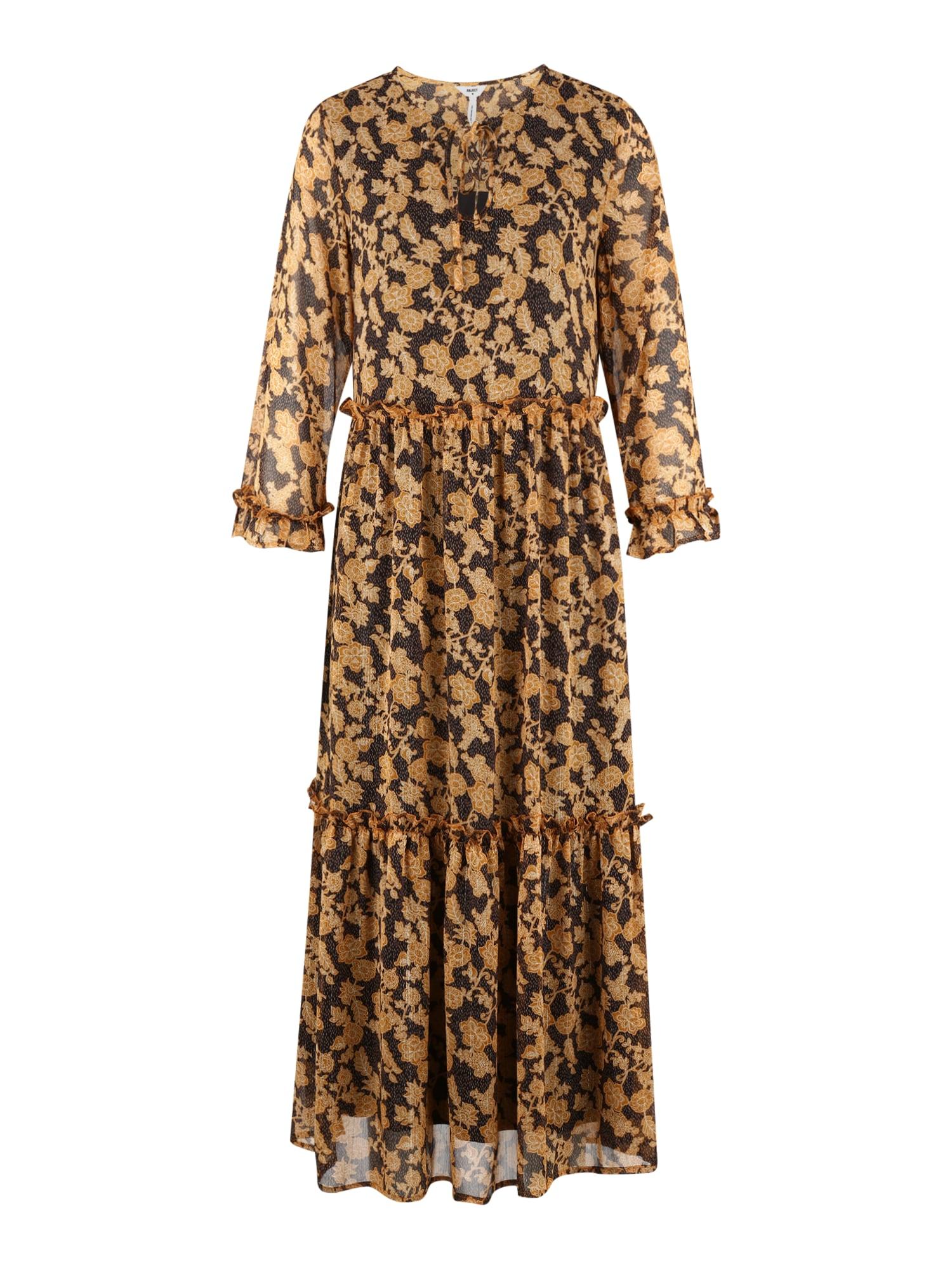 OBJECT (Tall) Šaty 'Silje'  hnědá / černá