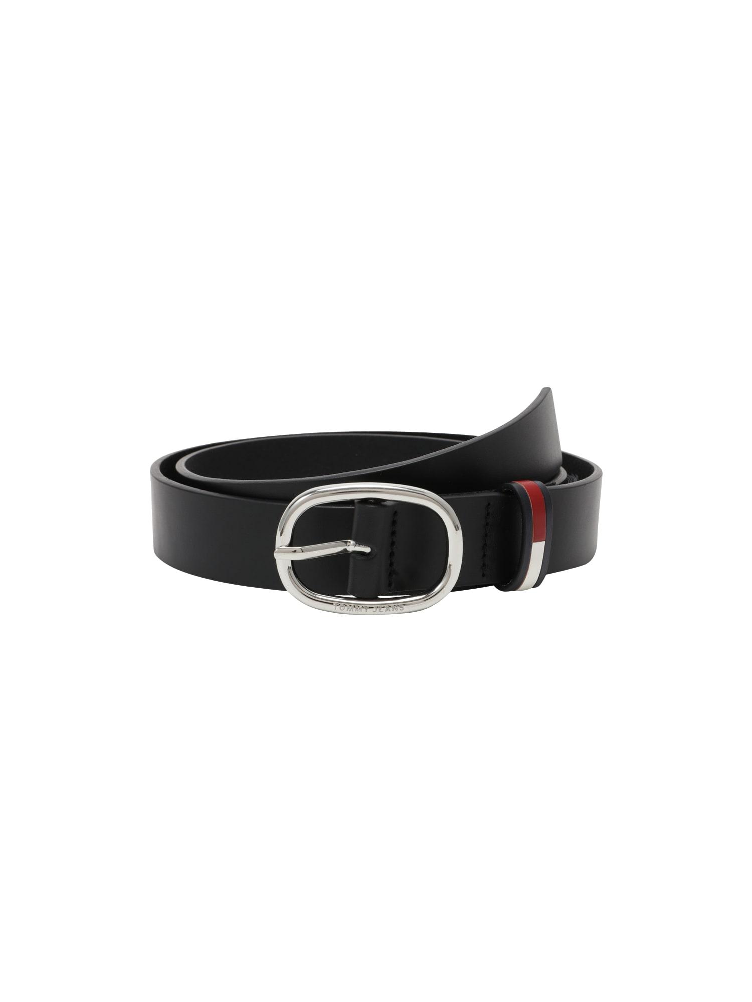 Tommy Jeans Diržas juoda / balta / tamsiai mėlyna / raudona