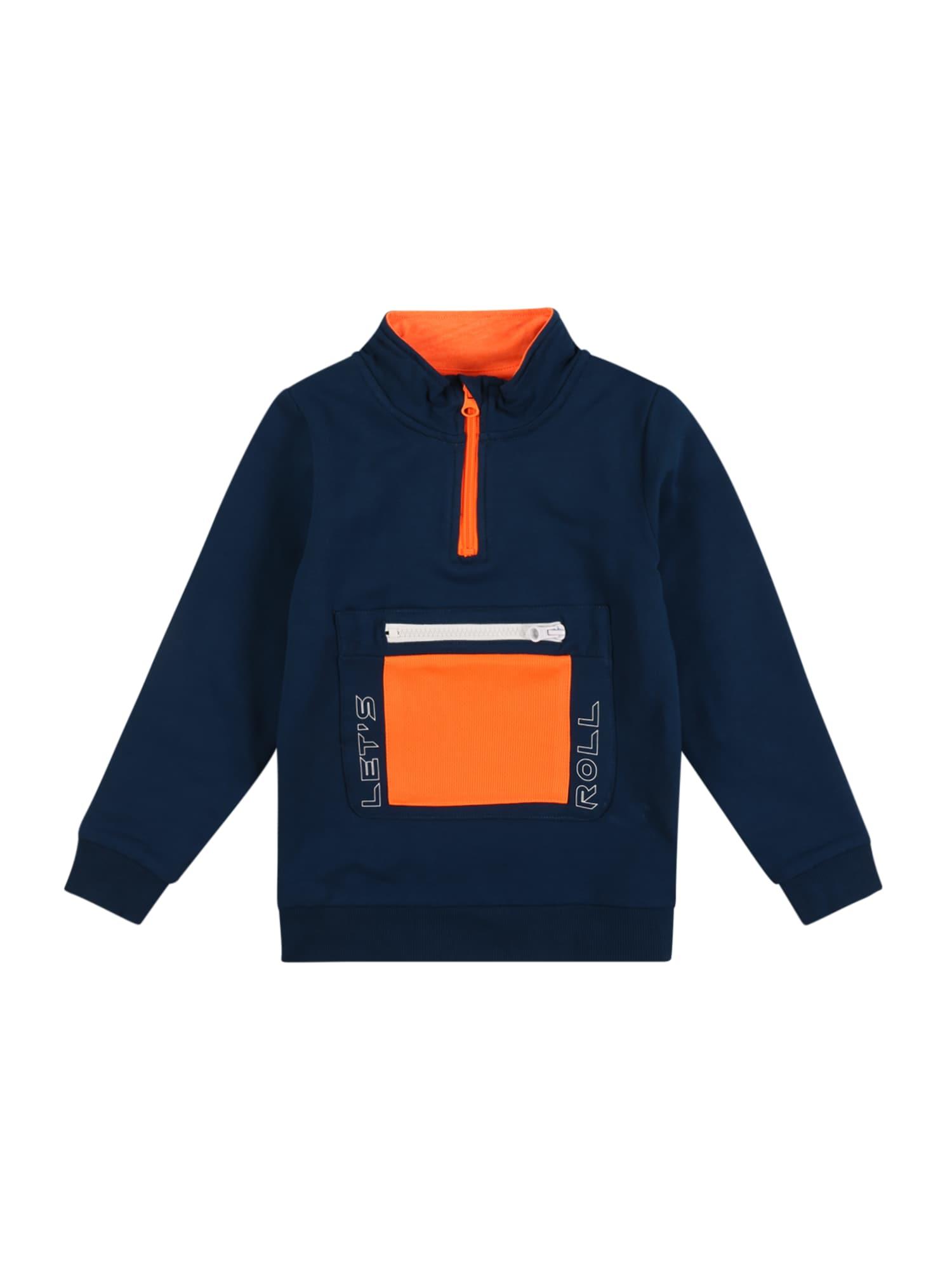 NAME IT Mikina  modrá / oranžová