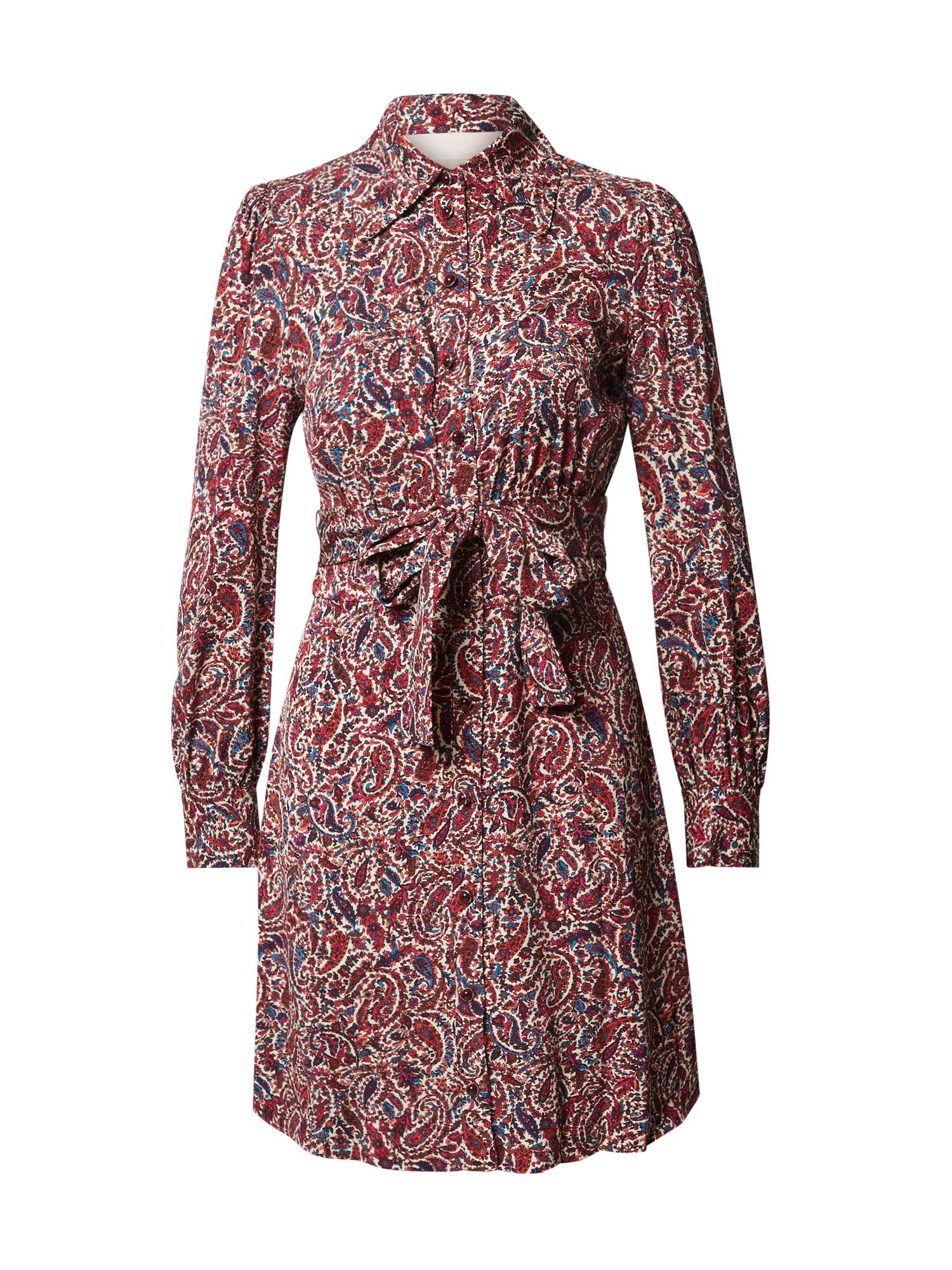 MICHAEL Michael Kors Palaidinės tipo suknelė vyno raudona spalva / mišrios spalvos
