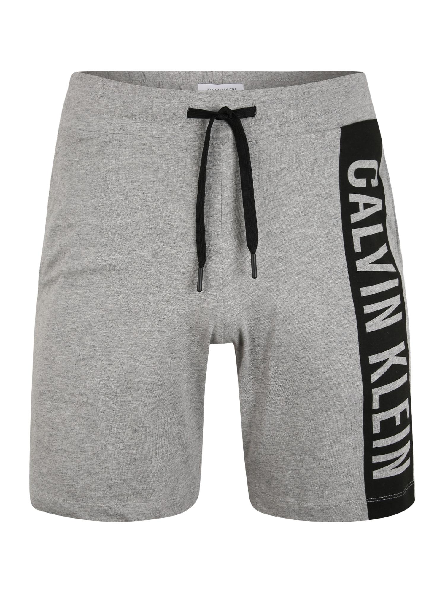 Calvin Klein Underwear Kalhoty 'MEDIUM'  šedá / černá