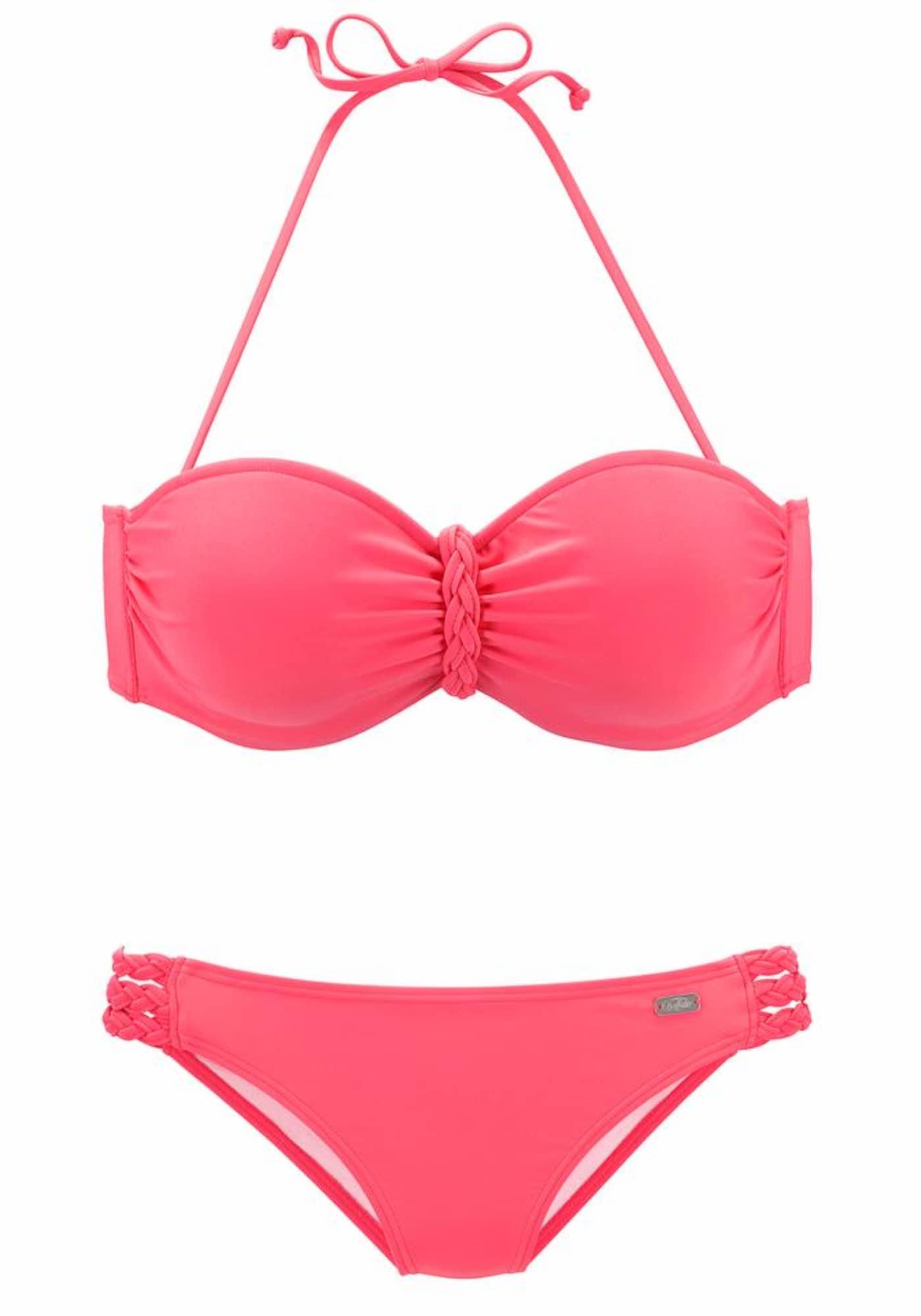 BUFFALO Bikinis neoninė rožinė