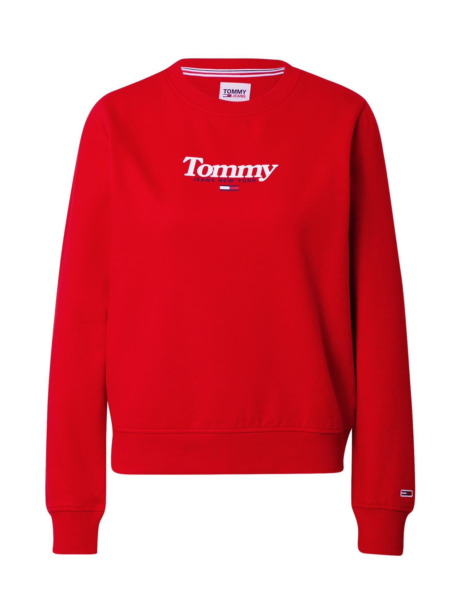 Tommy Jeans Mikina 'Essential'  červená