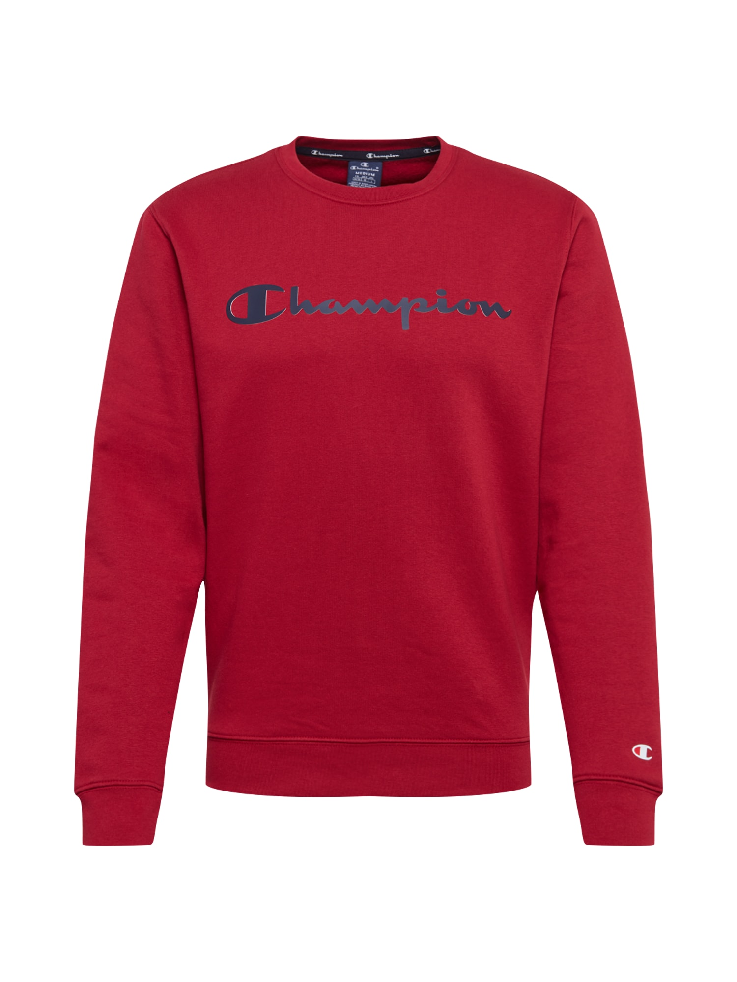 Champion Authentic Athletic Apparel Megztinis be užsegimo raudona / juoda
