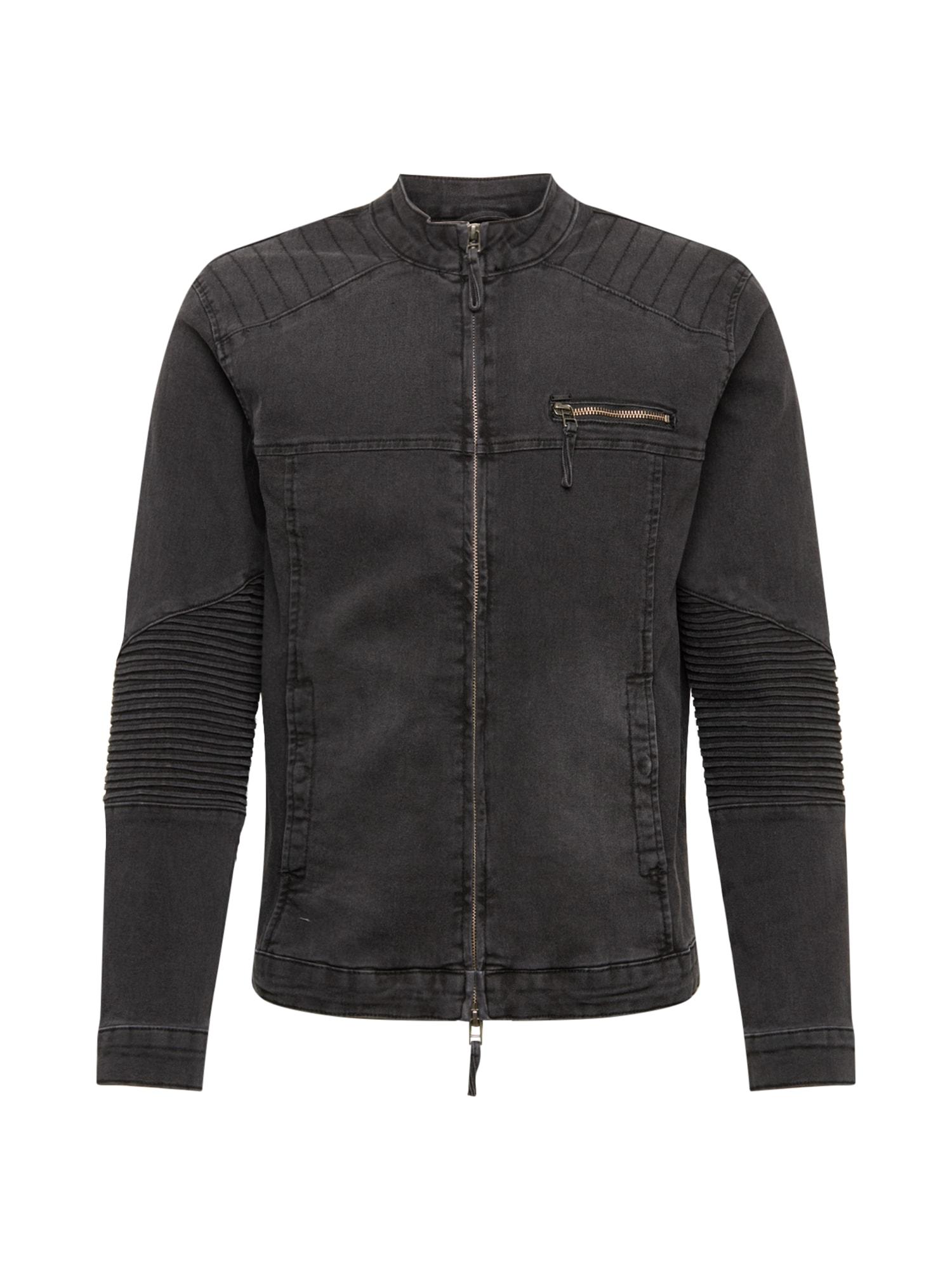 Only & Sons Demisezoninė striukė juodo džinso spalva