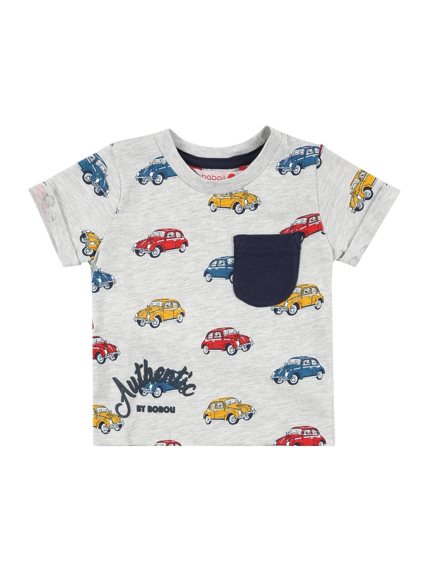 Boboli Marškinėliai mišrios spalvos / margai pilka / geltona / mėlyna / raudona