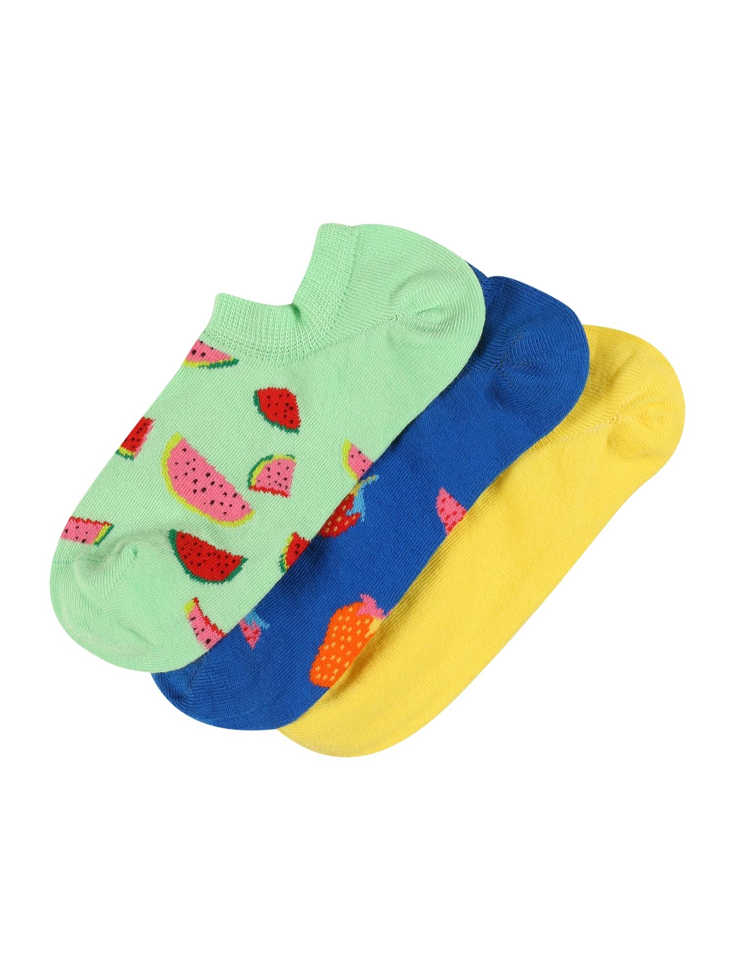 Happy Socks Kojinės šviesiai žalia / mėlyna / žaliosios citrinos spalva / raudona