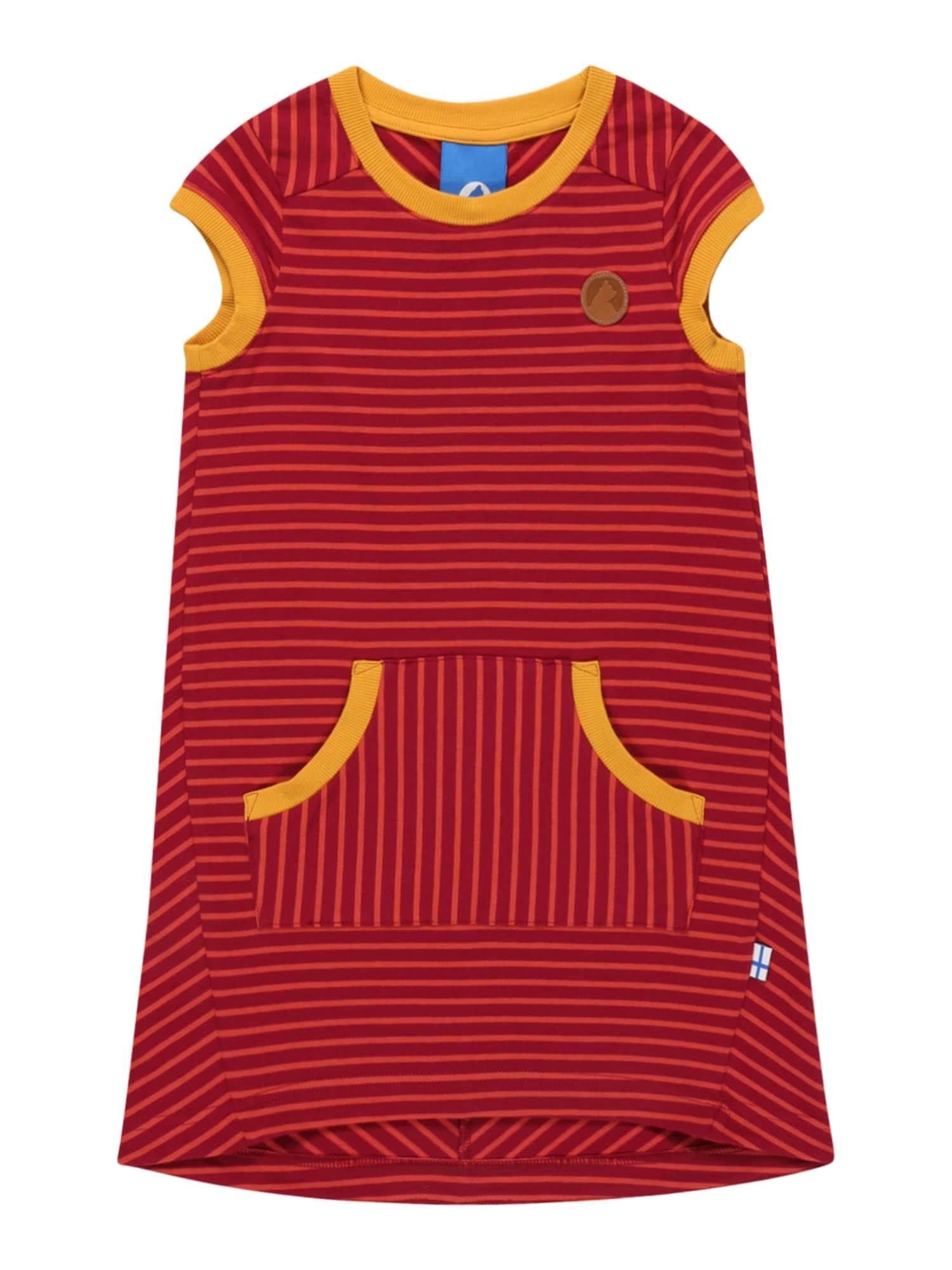 FINKID Suknelė geltona / tamsiai raudona