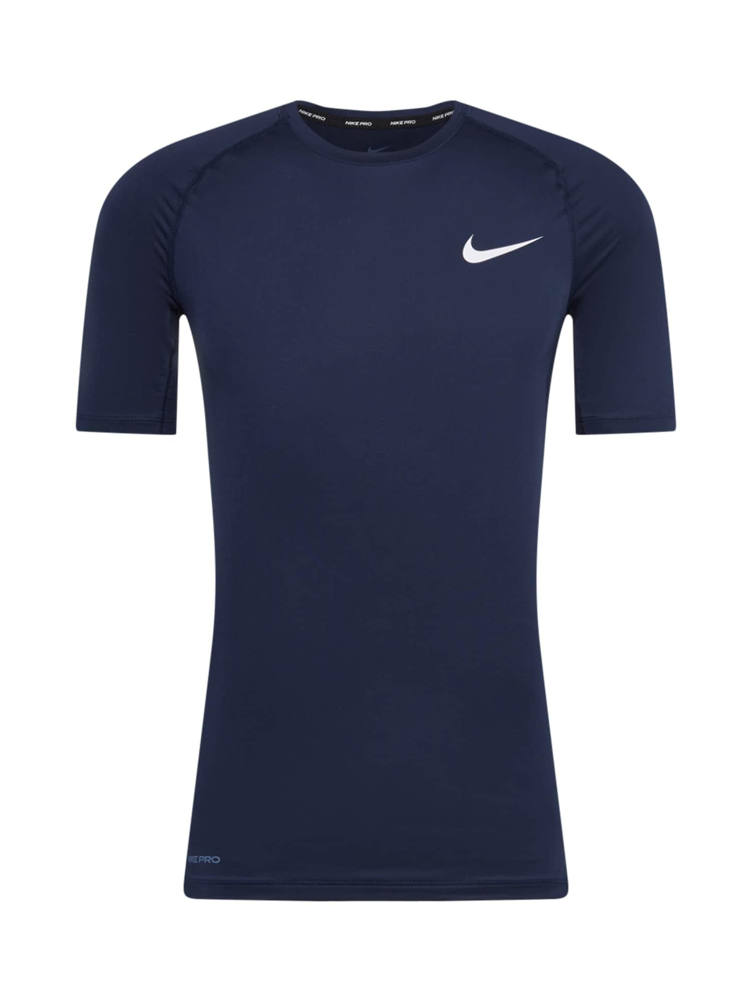 NIKE Funkční tričko  tmavě modrá / bílá