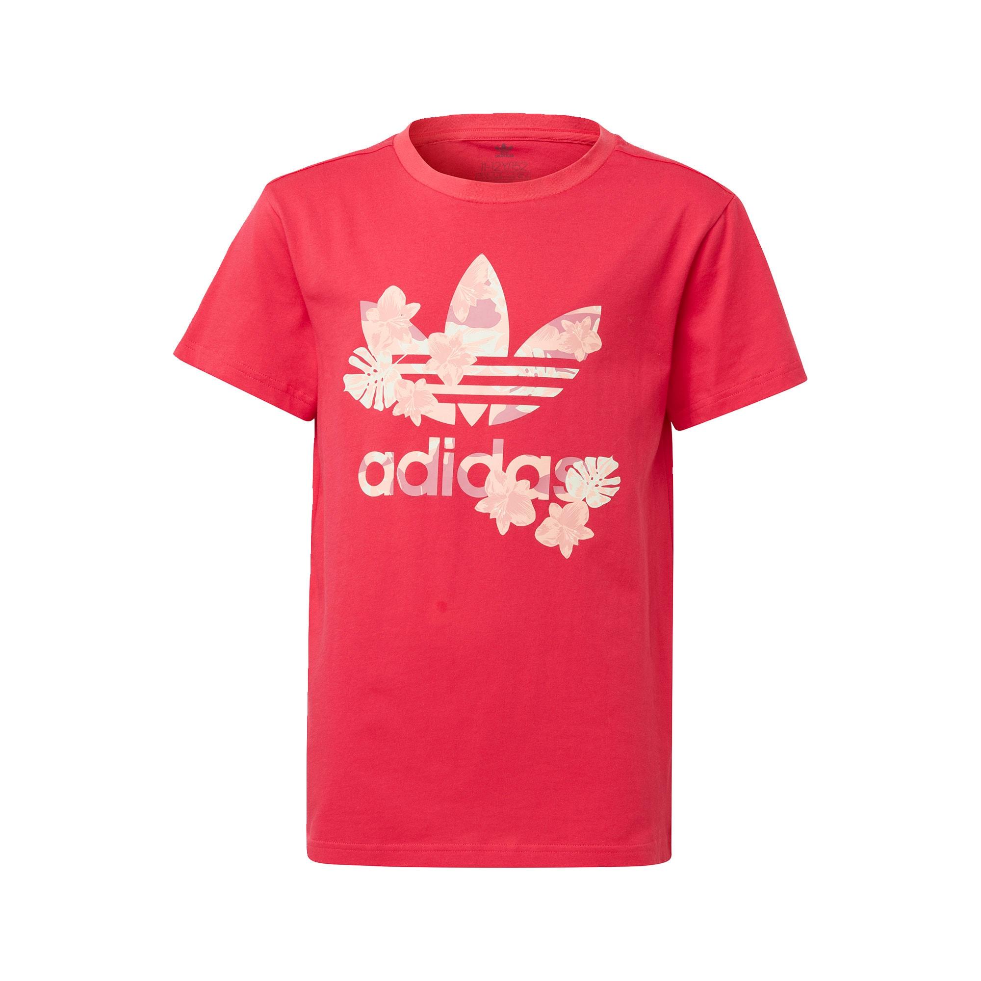 ADIDAS ORIGINALS Marškinėliai balta / pitajų spalva / pudros spalva / rožių spalva