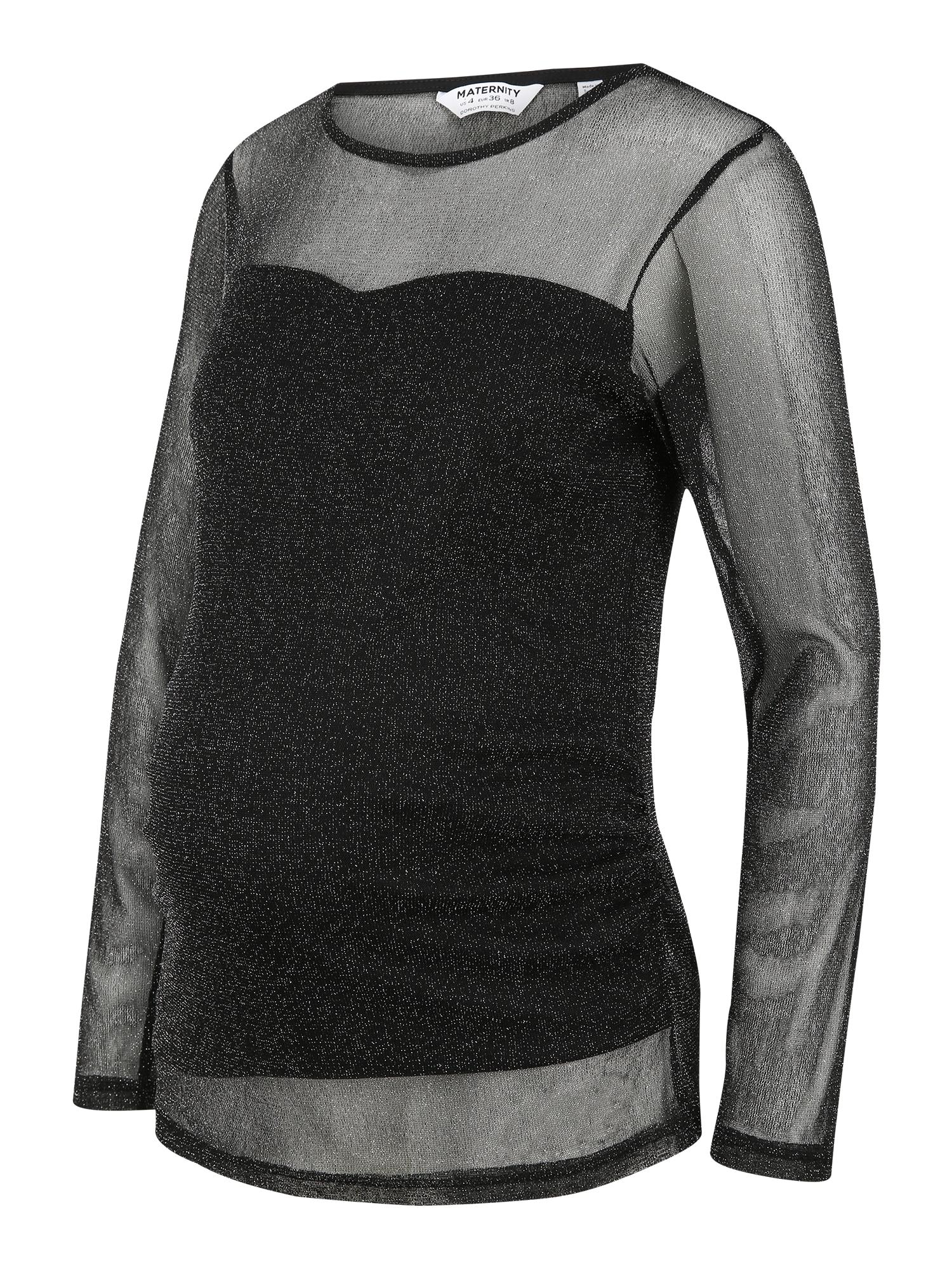 Dorothy Perkins Maternity Marškinėliai sidabrinė / juoda