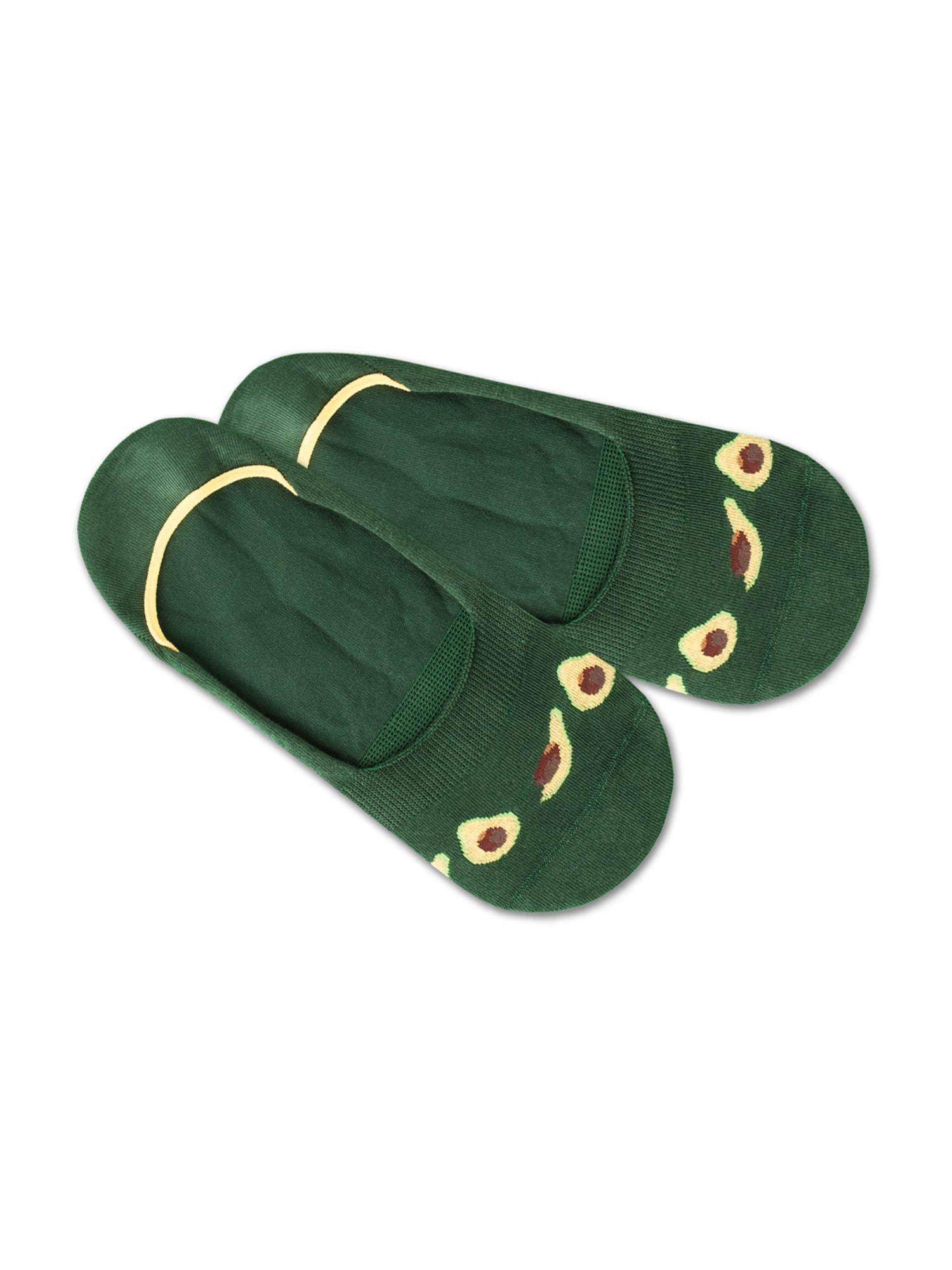DillySocks Ponožky 'IN20-07 Hidden Healthy'  žlutá / zelená / hnědá