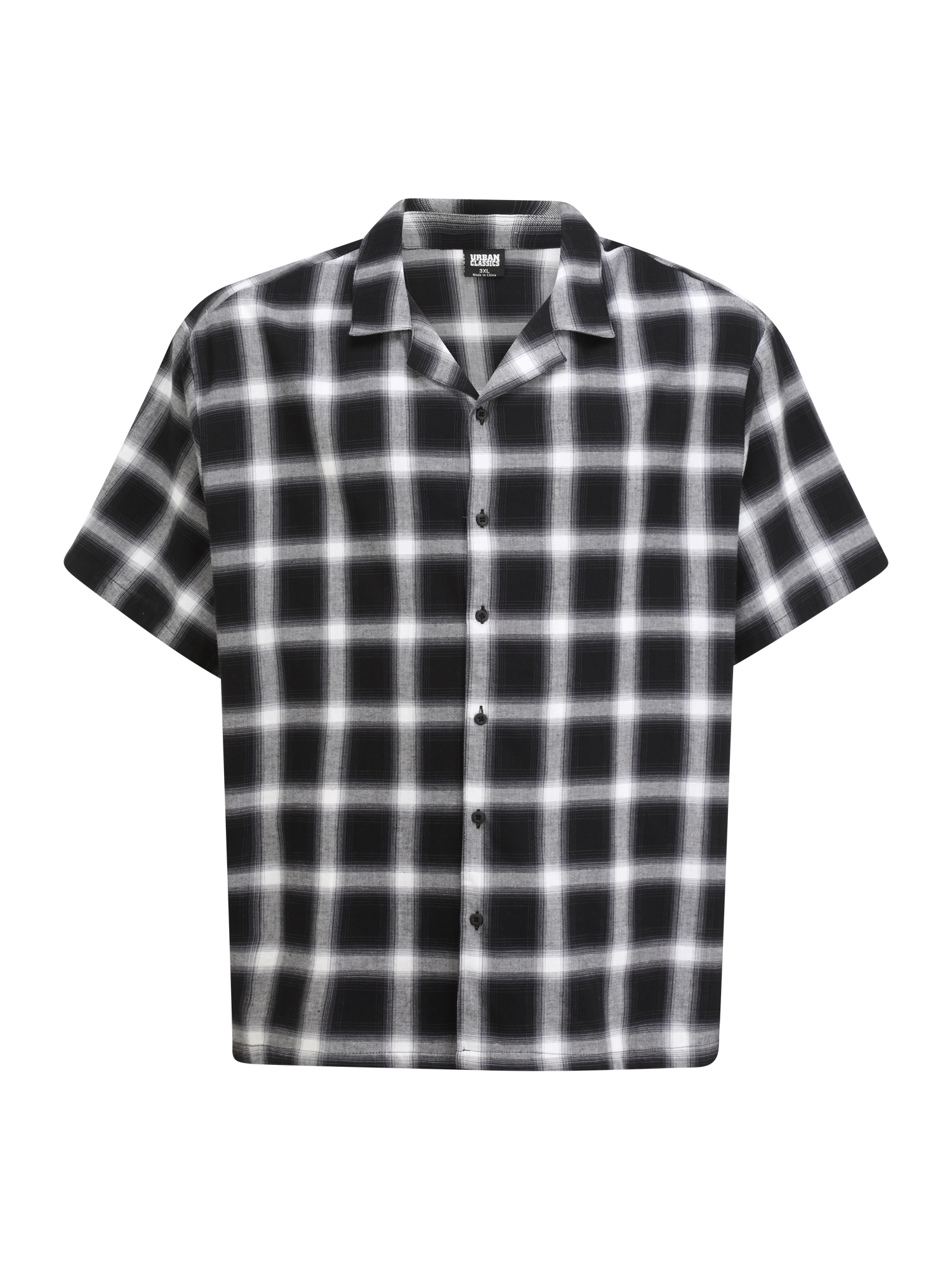 Urban Classics Plus Size Marškiniai juoda / margai pilka / balta