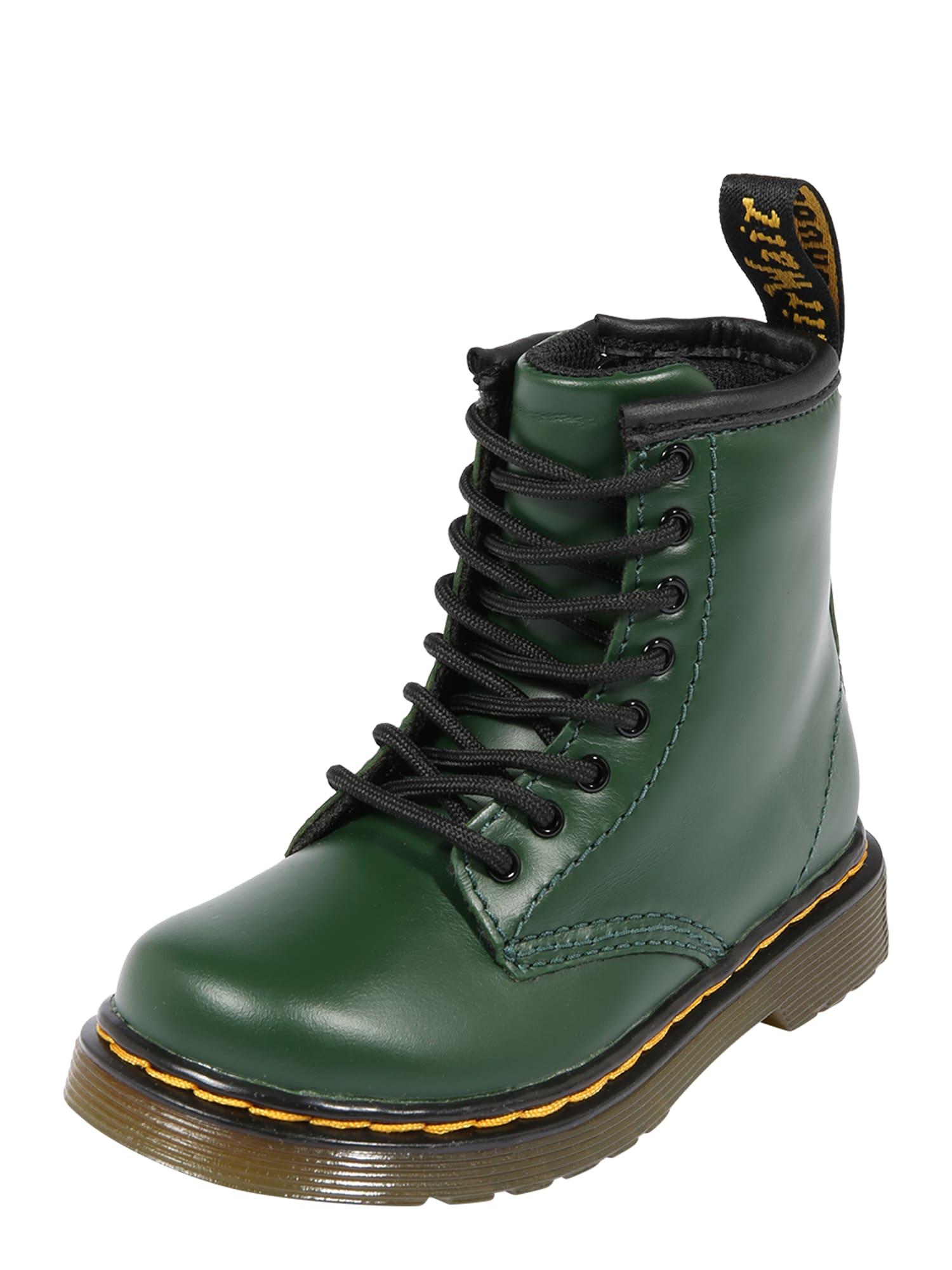 Dr. Martens Auliniai tamsiai žalia / geltona / juoda