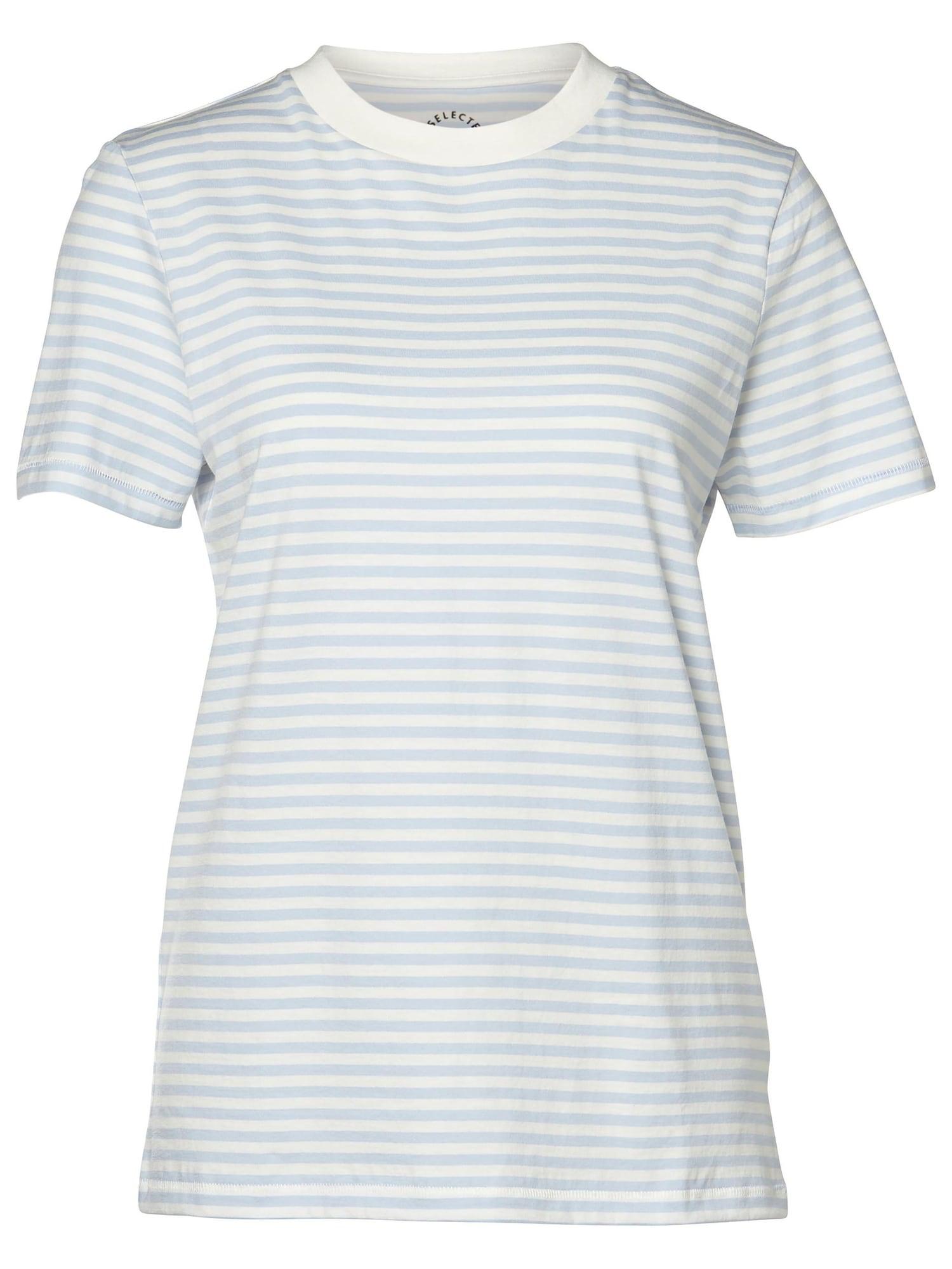 Selected Femme Curve Marškinėliai balta / opalo
