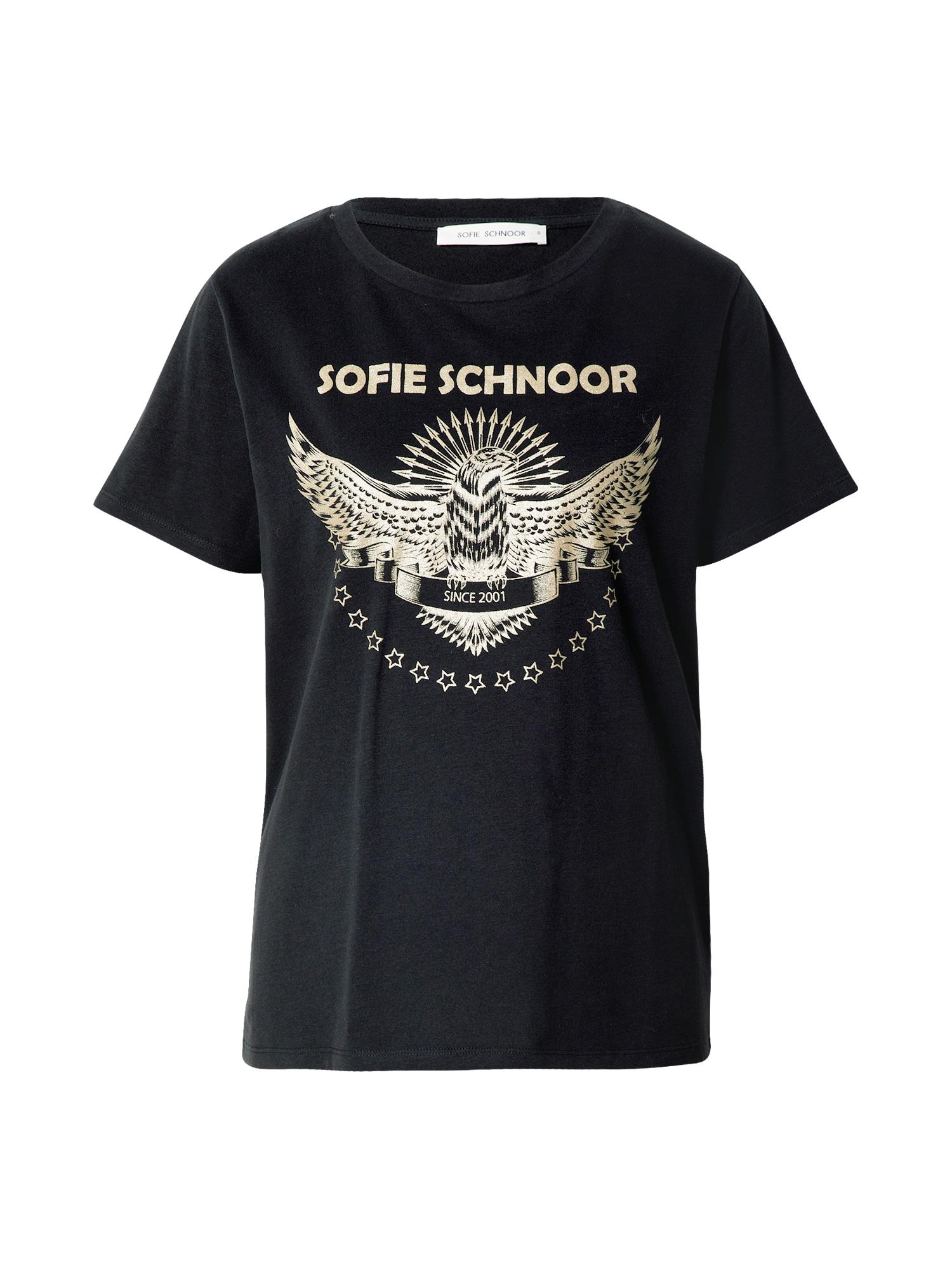 Sofie Schnoor Marškinėliai juoda / auksas