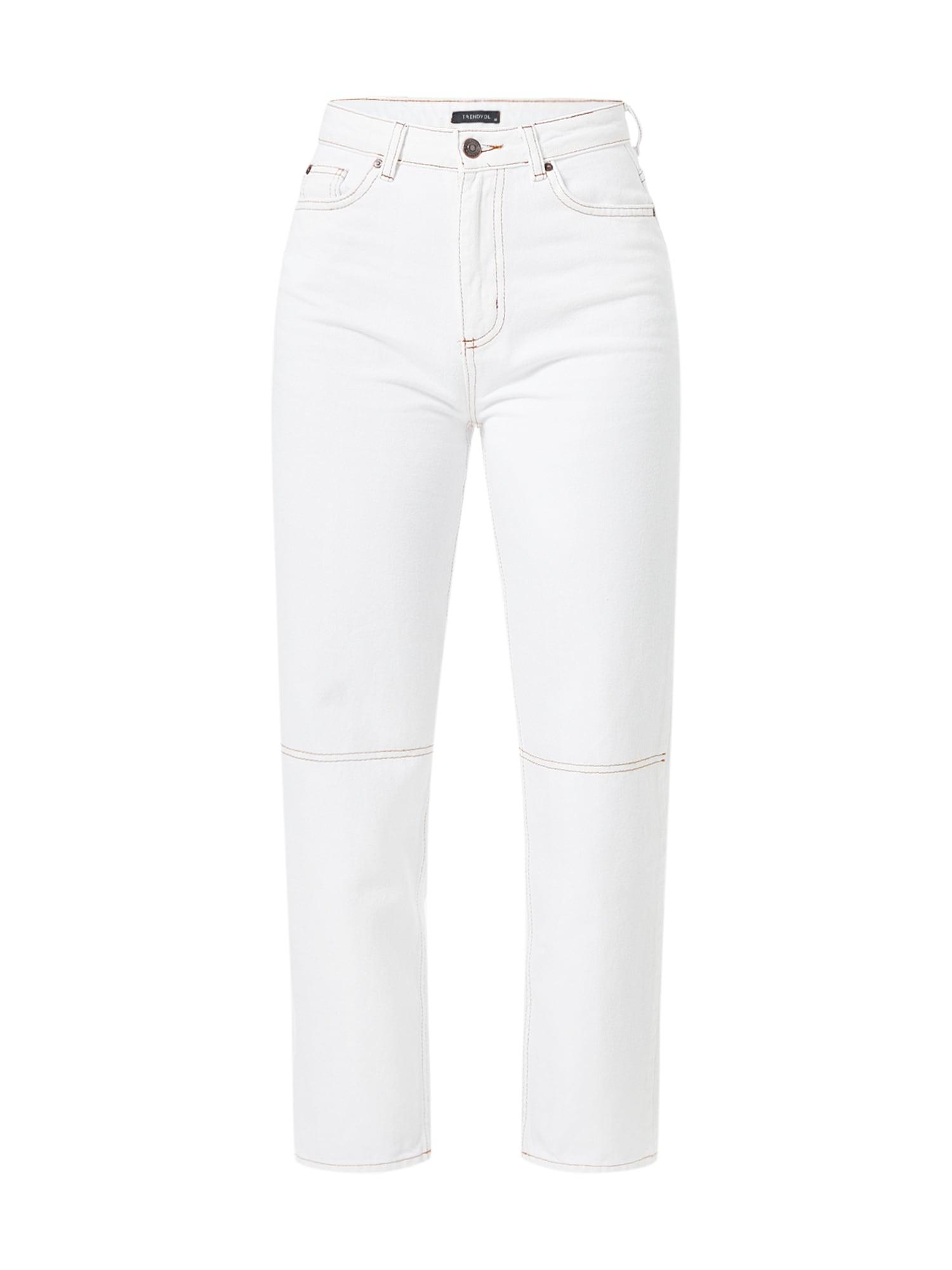 Trendyol Džinsai balto džinso spalva