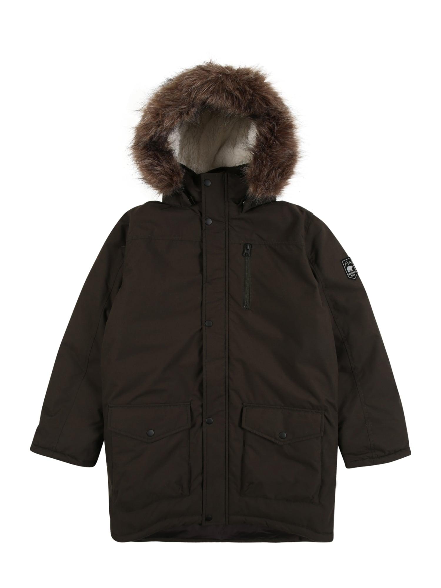 NAME IT Zimní bunda  tmavě hnědá