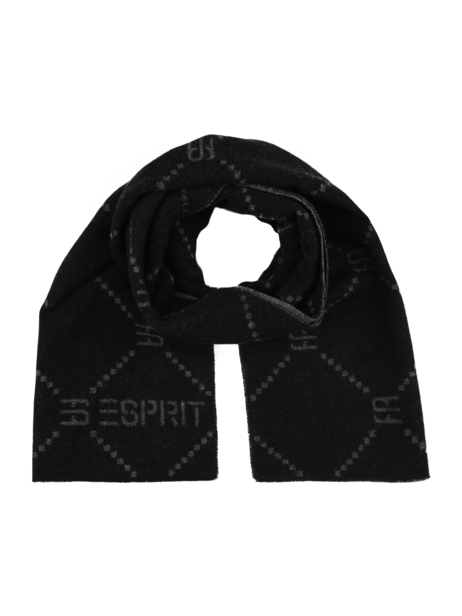 ESPRIT Šála  černá / šedá