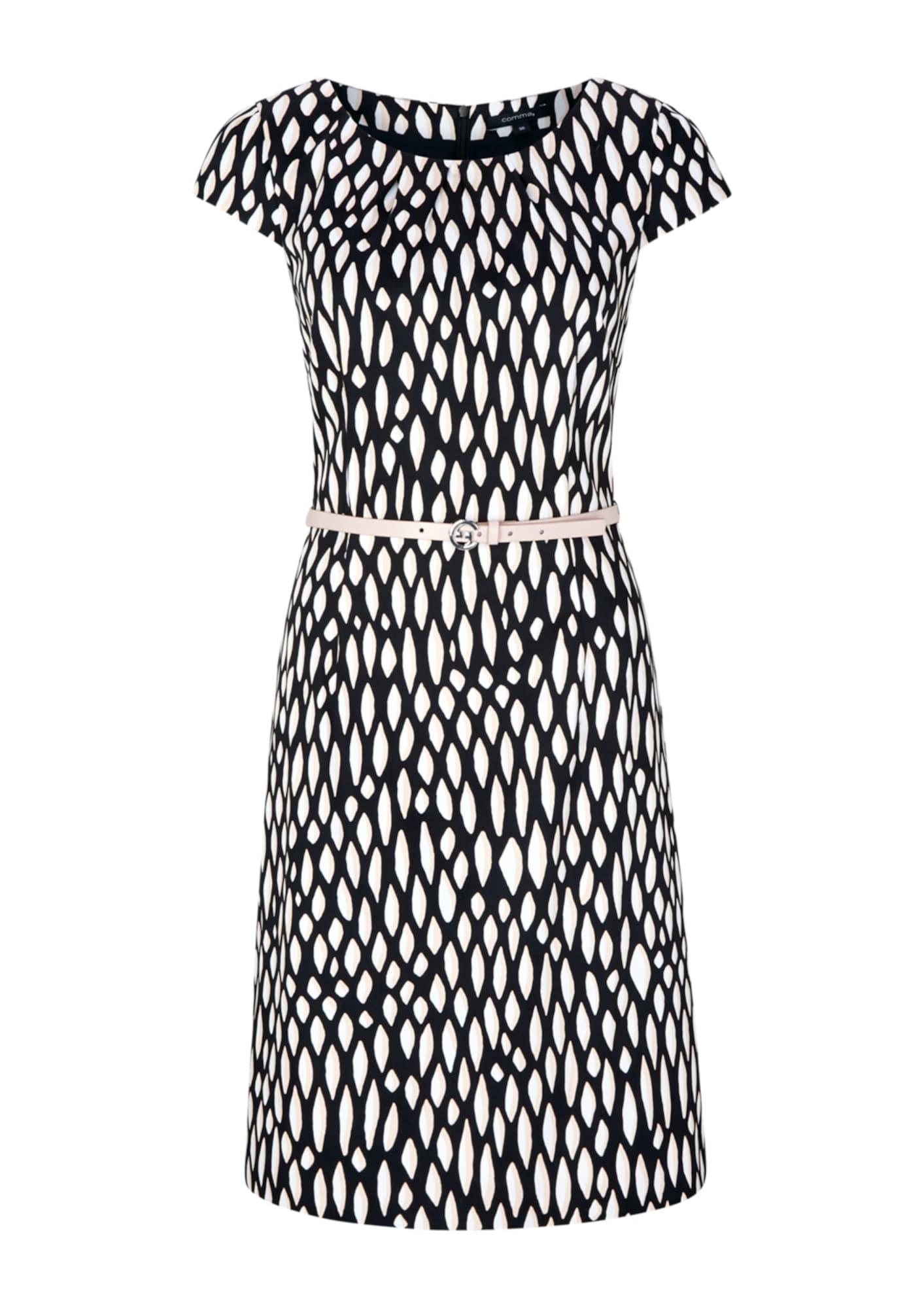 COMMA Šaty  biela / čierna