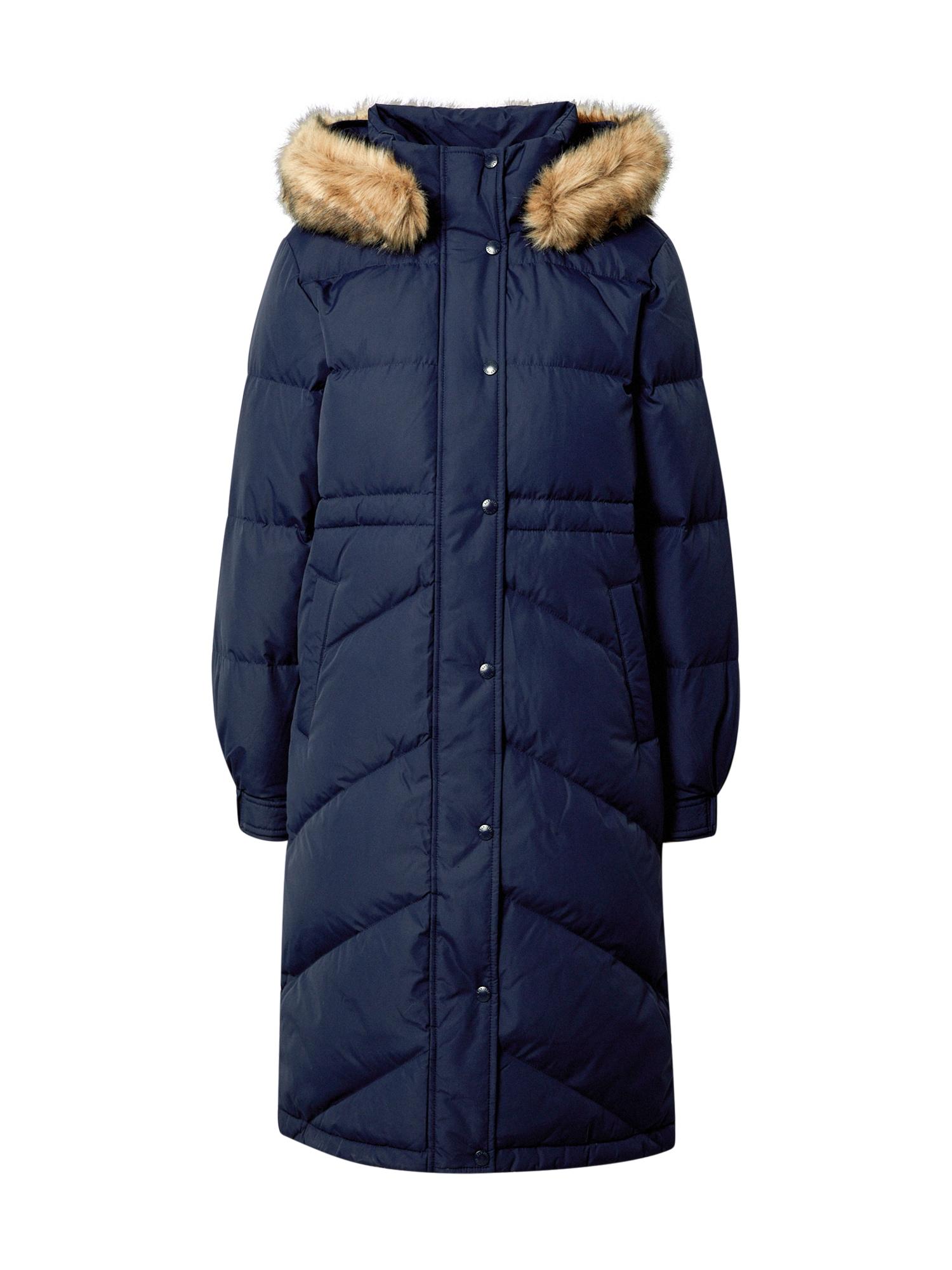 GAP Žieminis paltas tamsiai mėlyna / smėlio