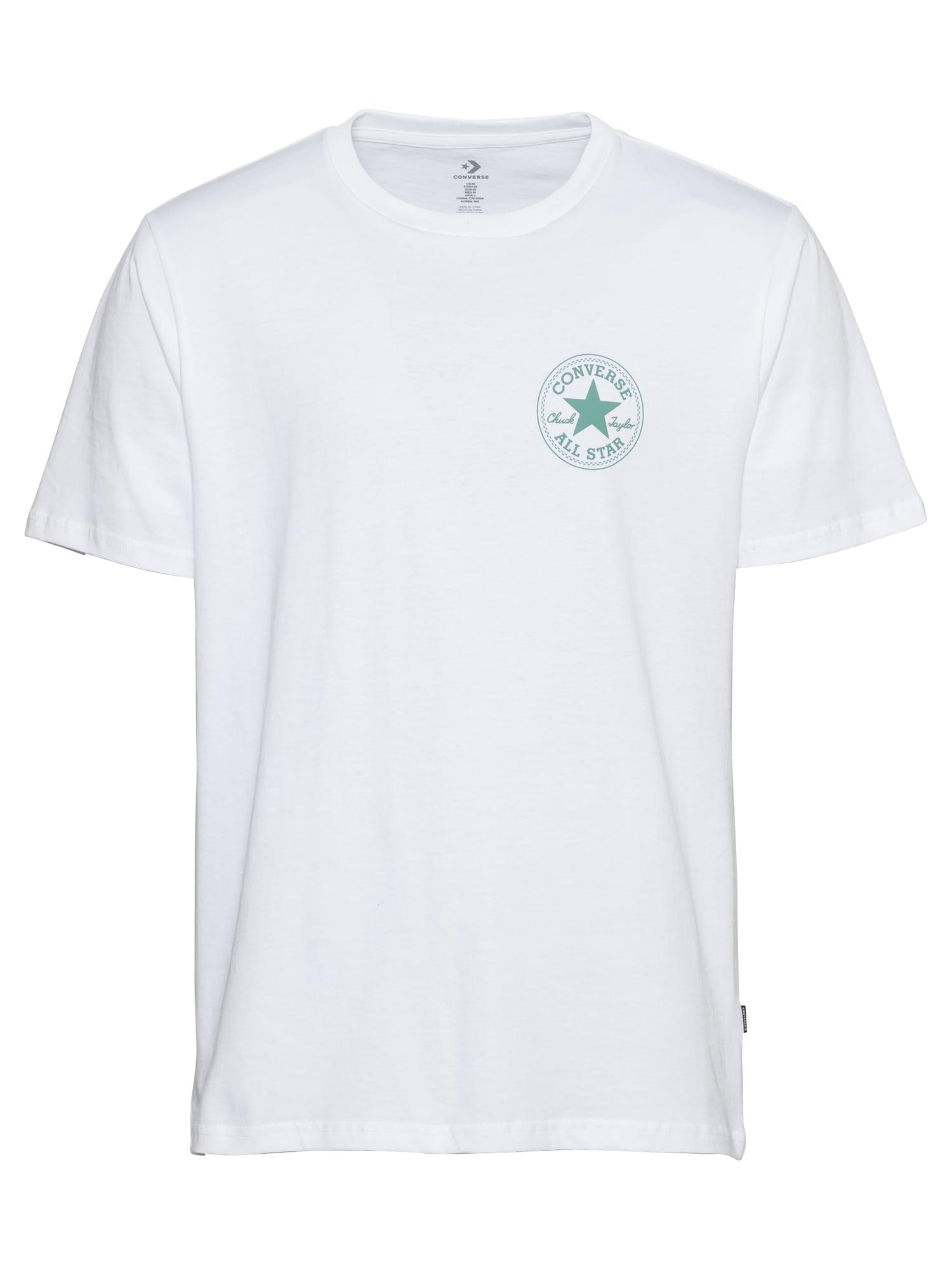 CONVERSE Marškinėliai balta / žolės žalia