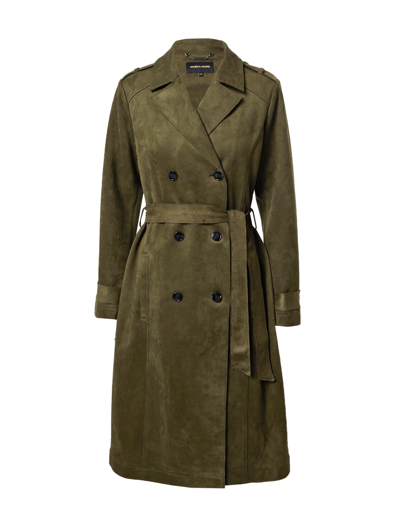 MORE & MORE Demisezoninis paltas alyvuogių spalva