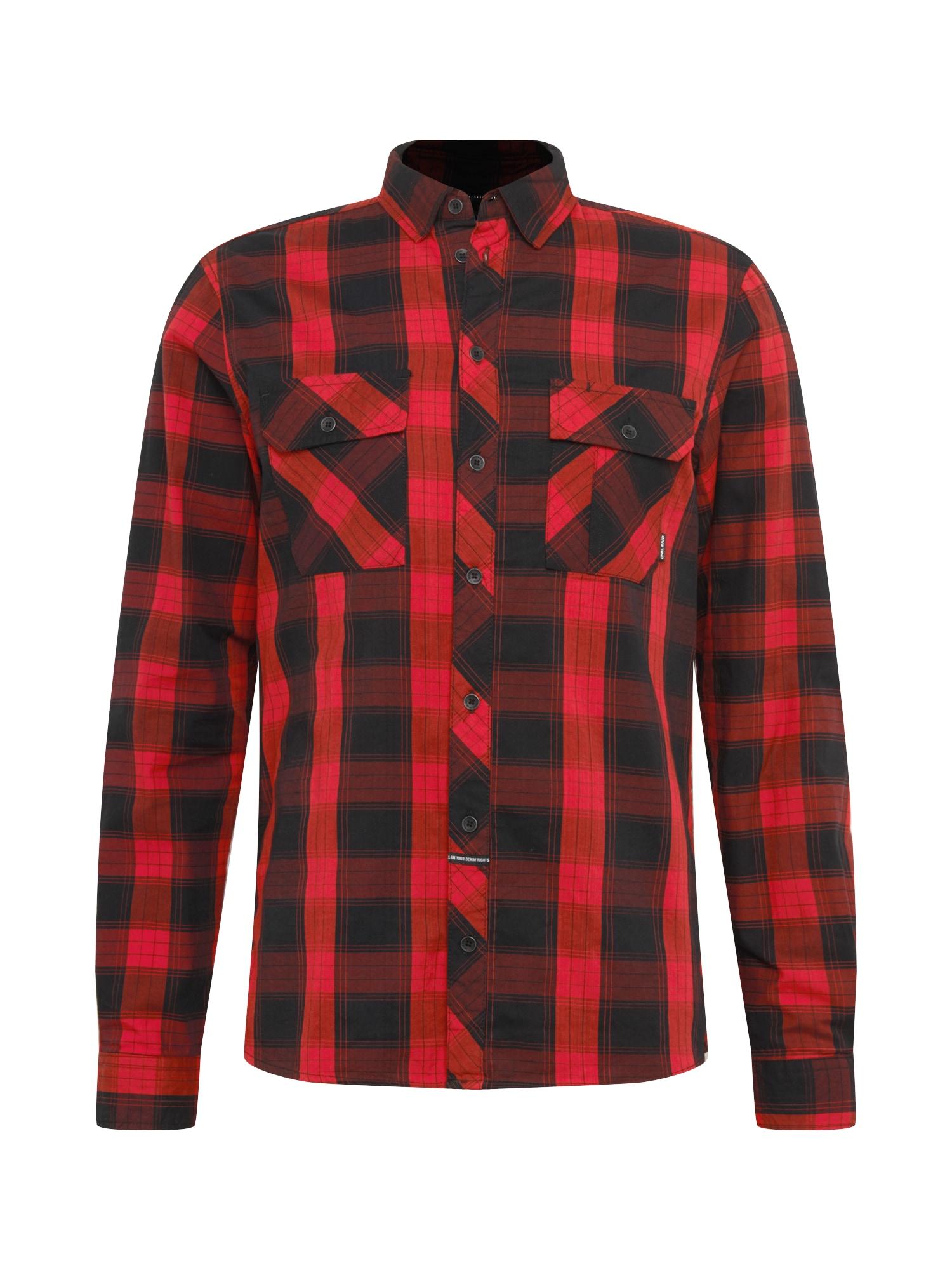 BLEND Marškiniai raudona / juoda