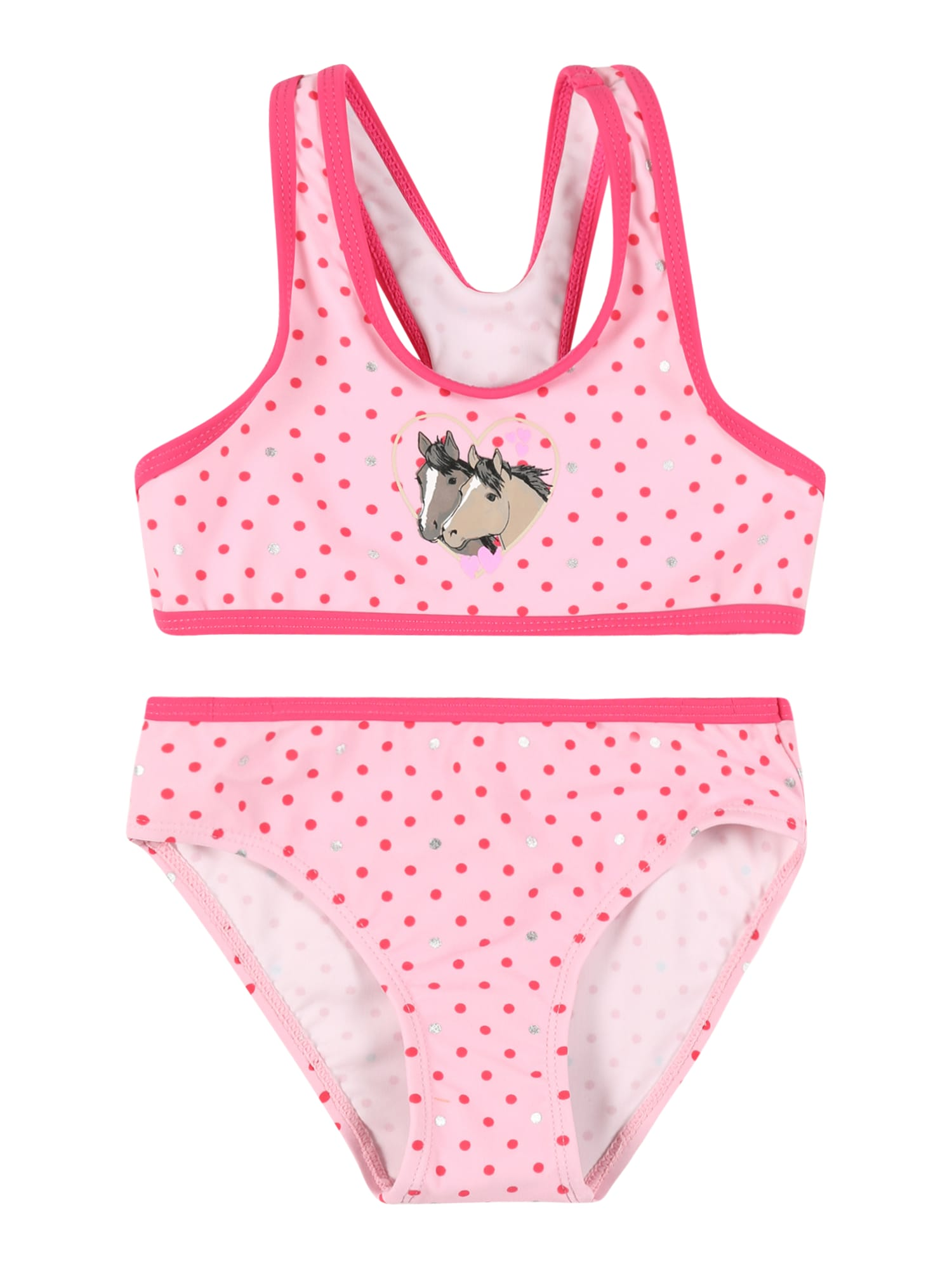 SALT AND PEPPER Bikinis rožinė / rožių spalva / ruda / bazalto pilka / balta