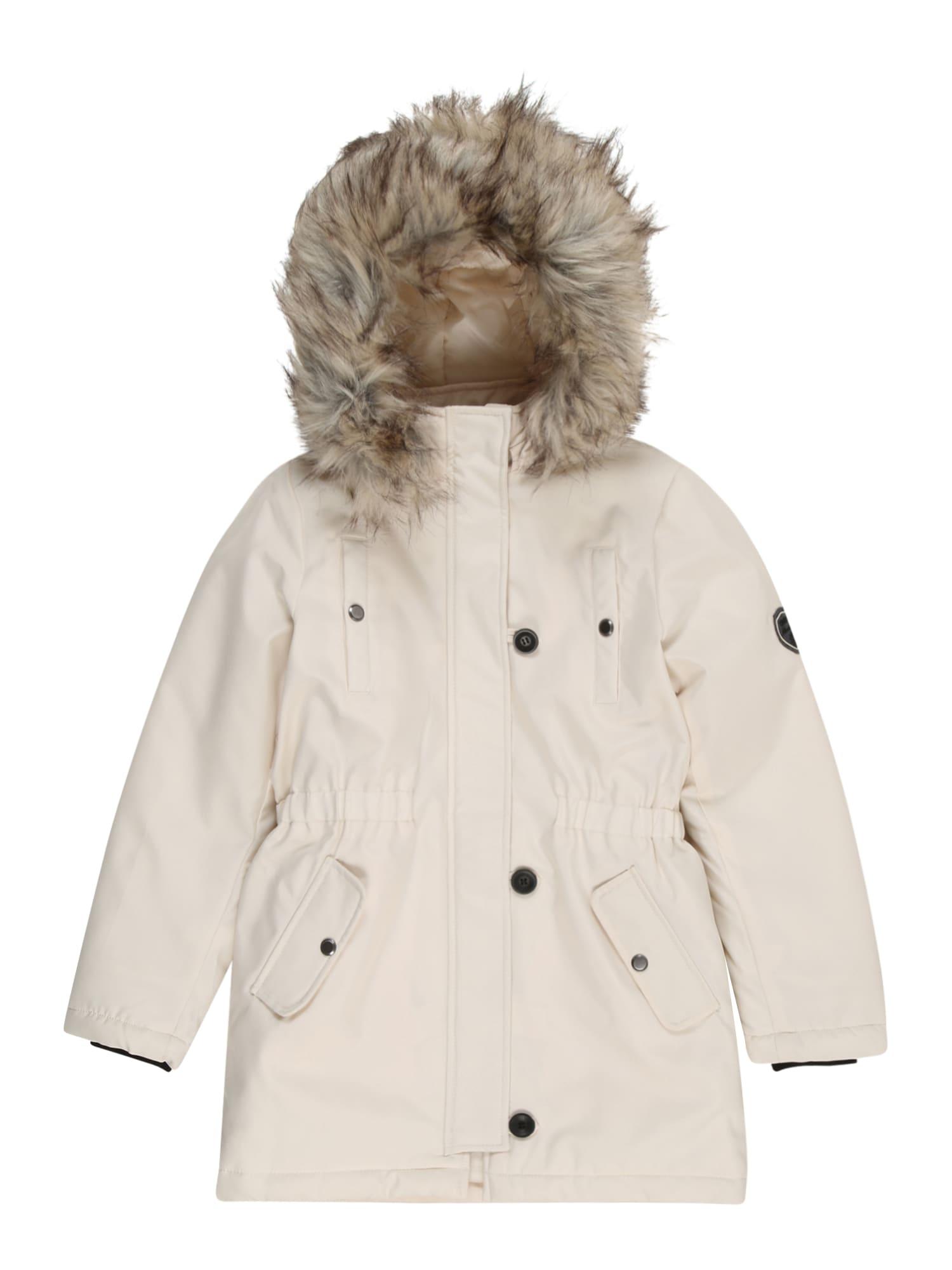 KIDS ONLY Zimní bunda 'IRIS'  offwhite / světle hnědá