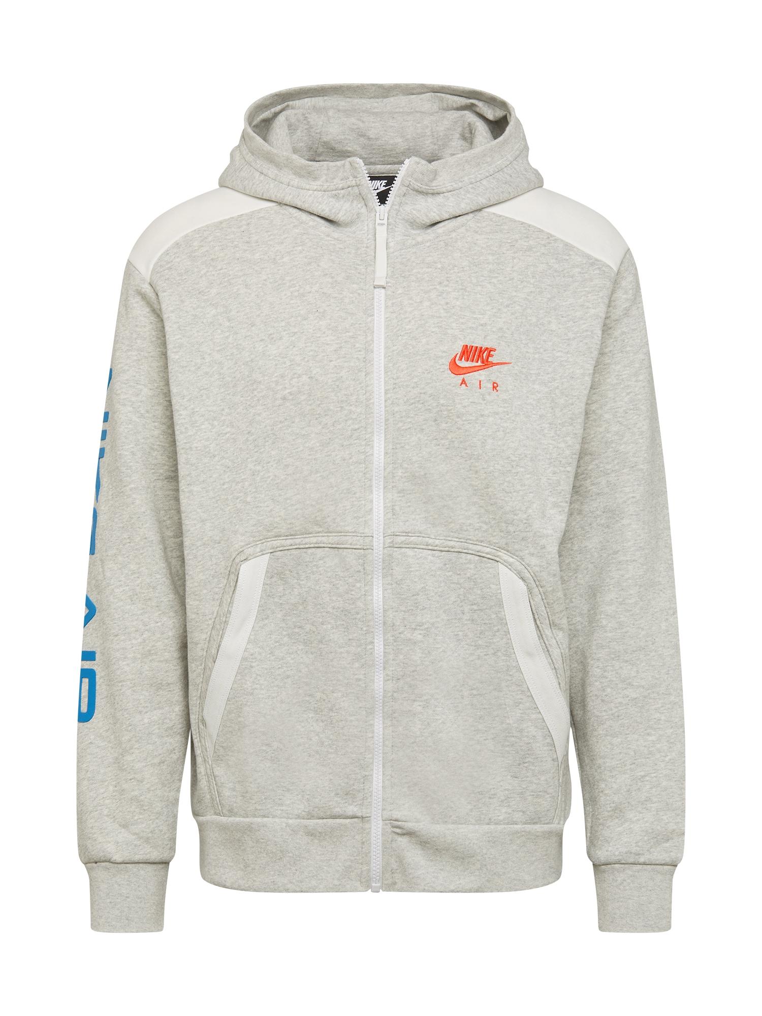 Nike Sportswear Džemperis mėlyna / šviesiai pilka / balta / koralų splava