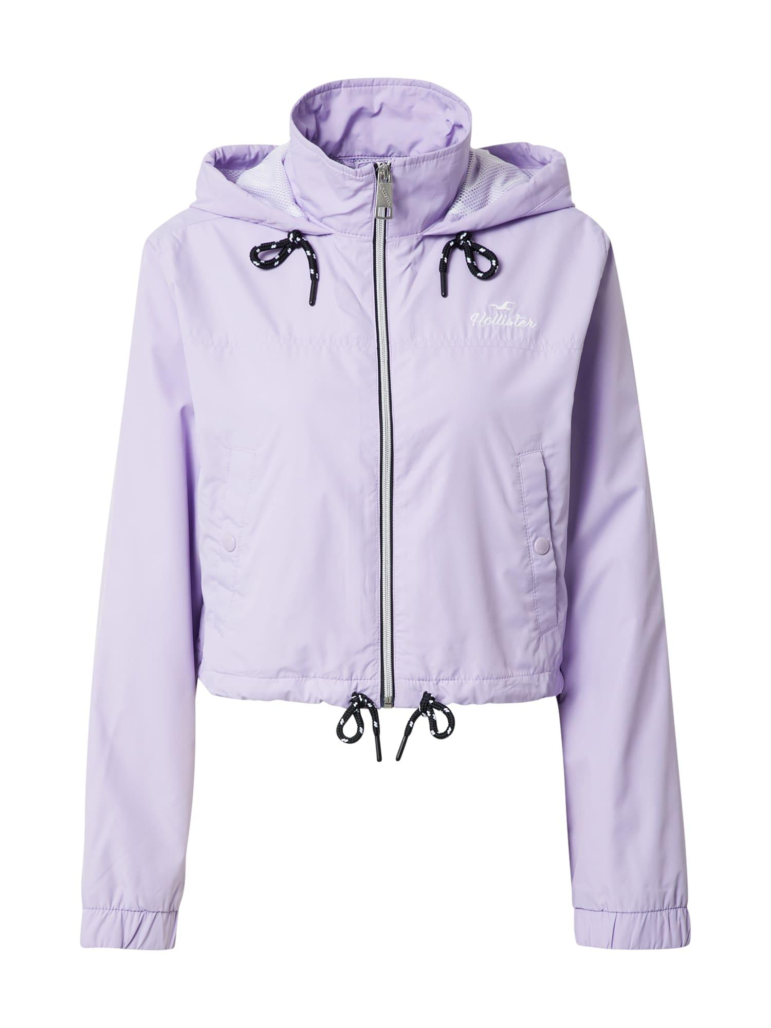 HOLLISTER Demisezoninė striukė šviesiai violetinė
