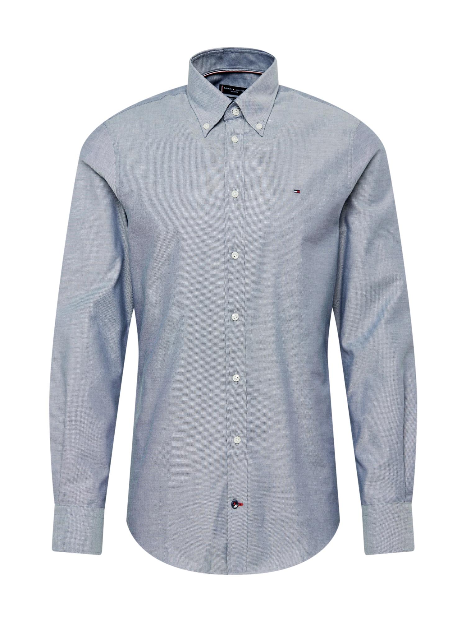 Tommy Hilfiger Tailored Marškiniai balta / melsvai pilka