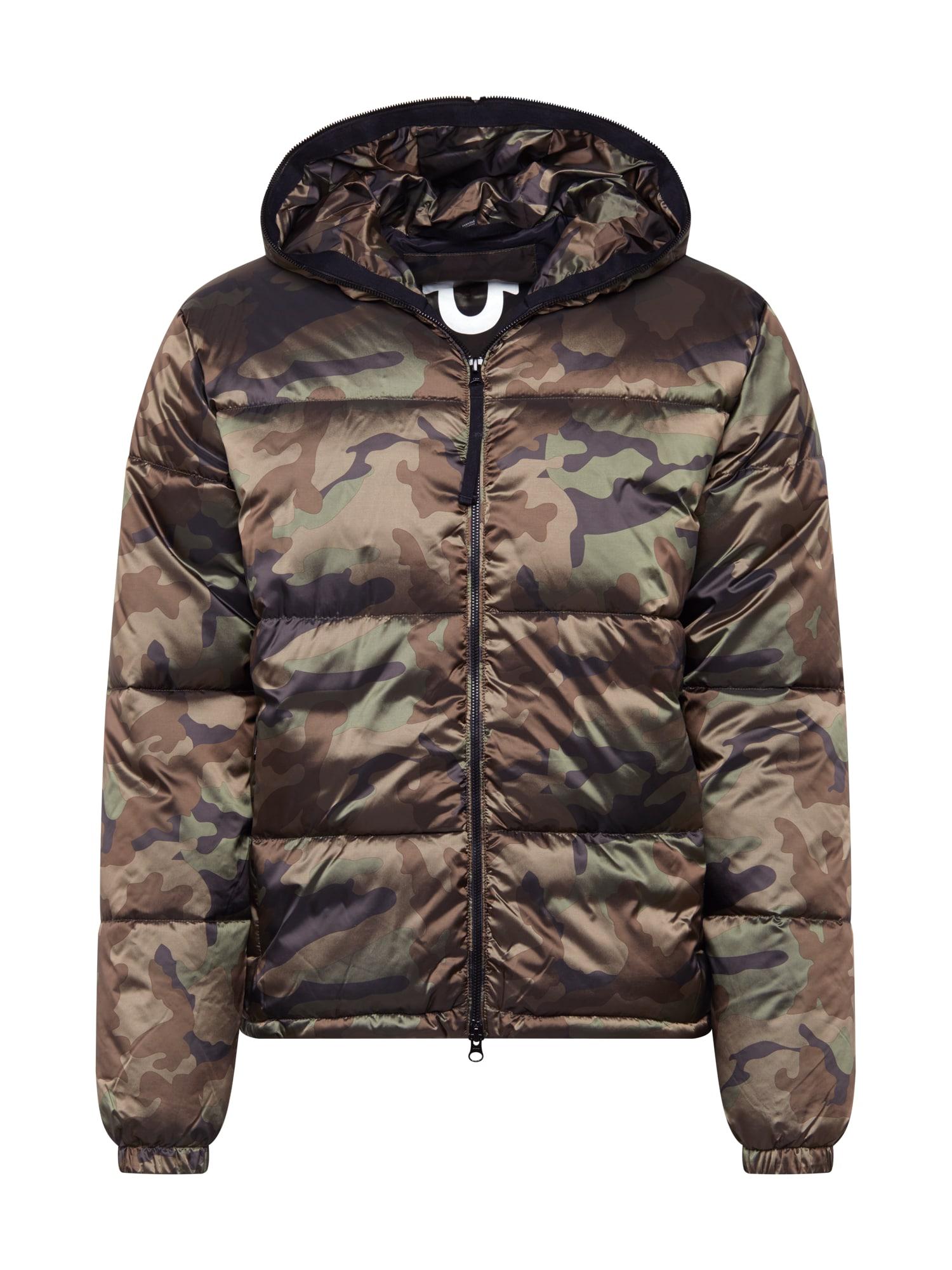 True Religion Zimní bunda  khaki / šedá