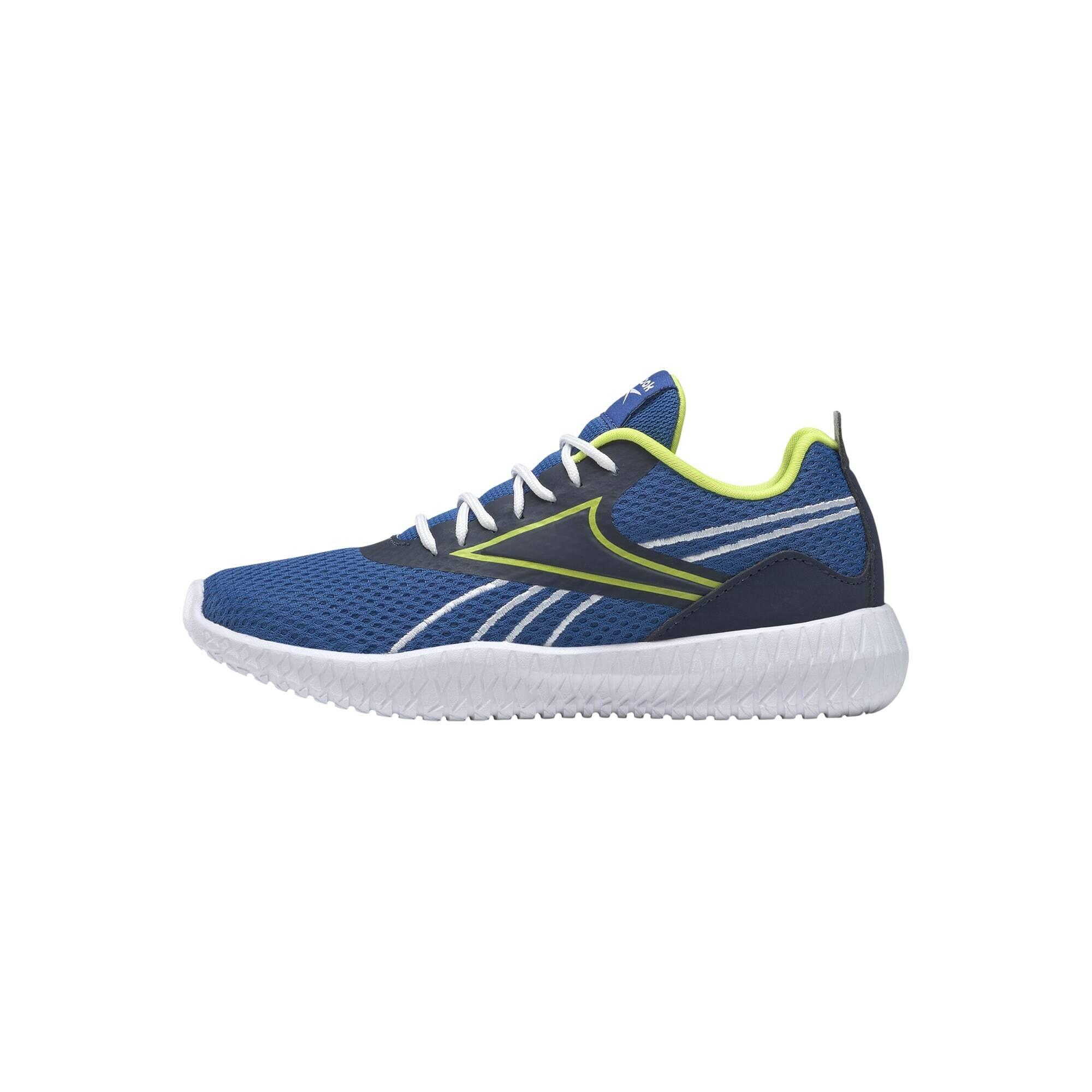 REEBOK Sportiniai batai 'Flexagon Energy' mėlyna / tamsiai mėlyna / neoninė geltona
