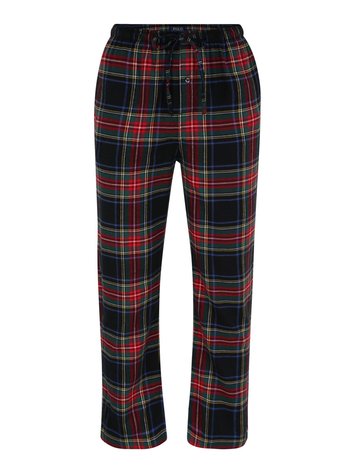 POLO RALPH LAUREN Pižaminės kelnės tamsiai mėlyna / raudona / tamsiai žalia / pilka
