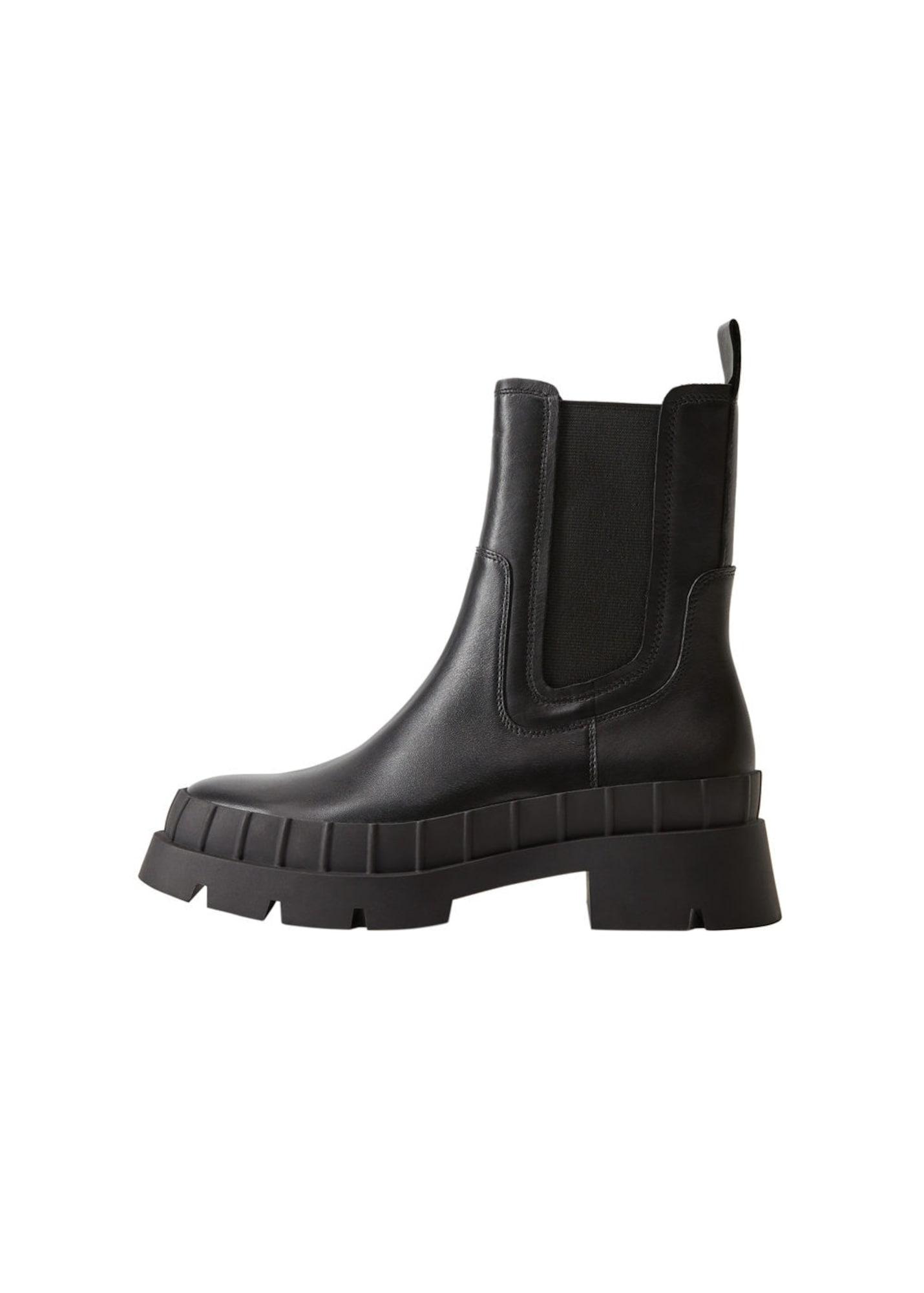 MANGO Nízke čižmy 'Rain'  čierna