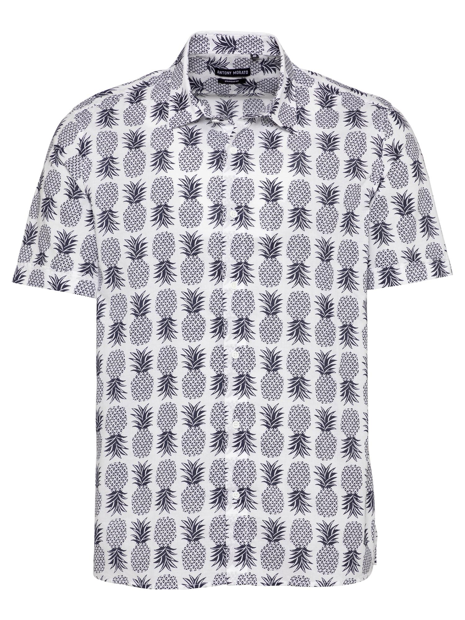 ANTONY MORATO Marškiniai kremo / tamsiai mėlyna