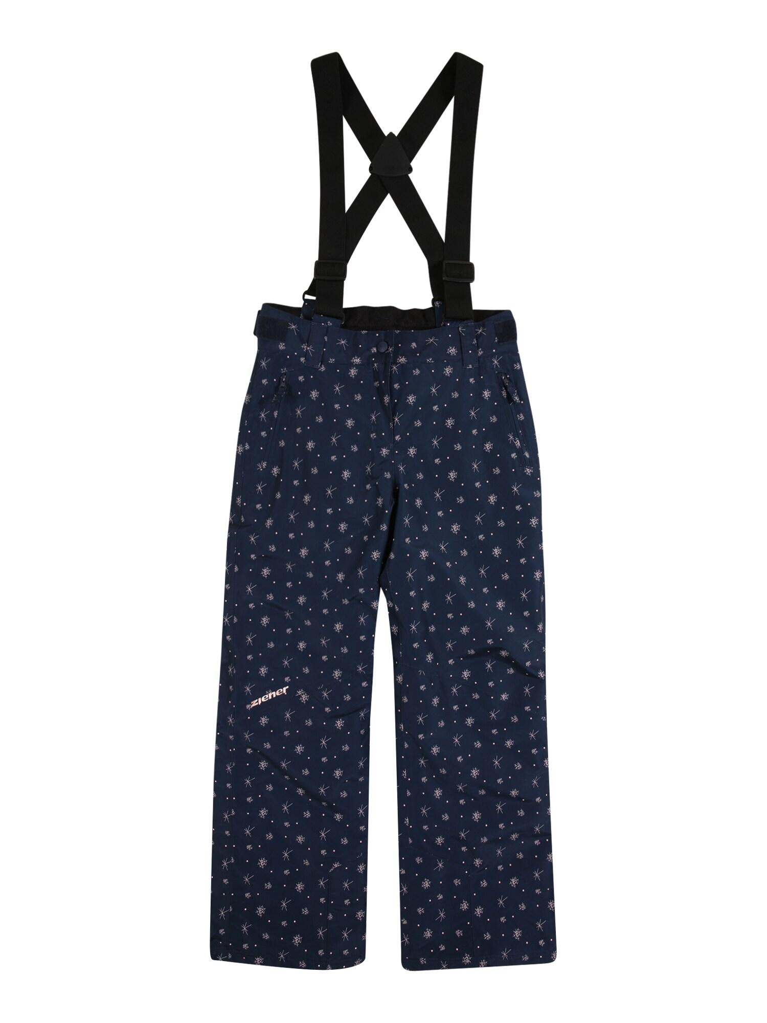 ZIENER Outdoorové kalhoty 'AVATINE'  noční modrá / bílá