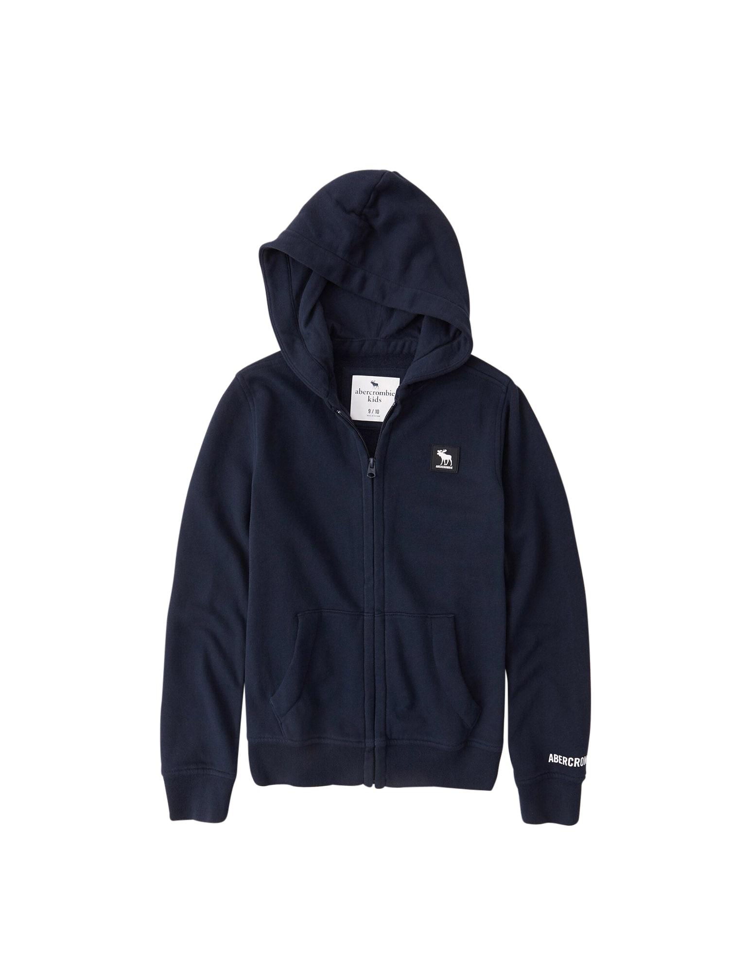 Abercrombie & Fitch Džemperis tamsiai mėlyna / balta