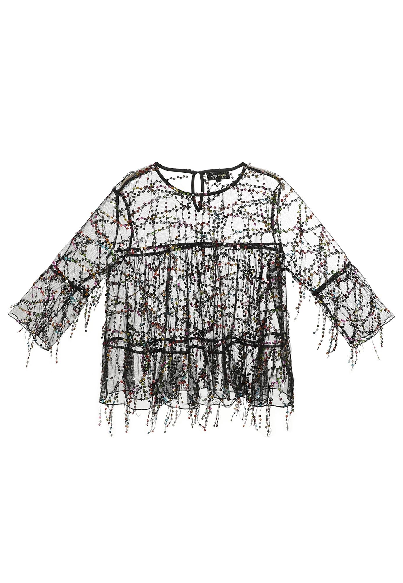 myMo at night Marškinėliai juoda / mišrios spalvos