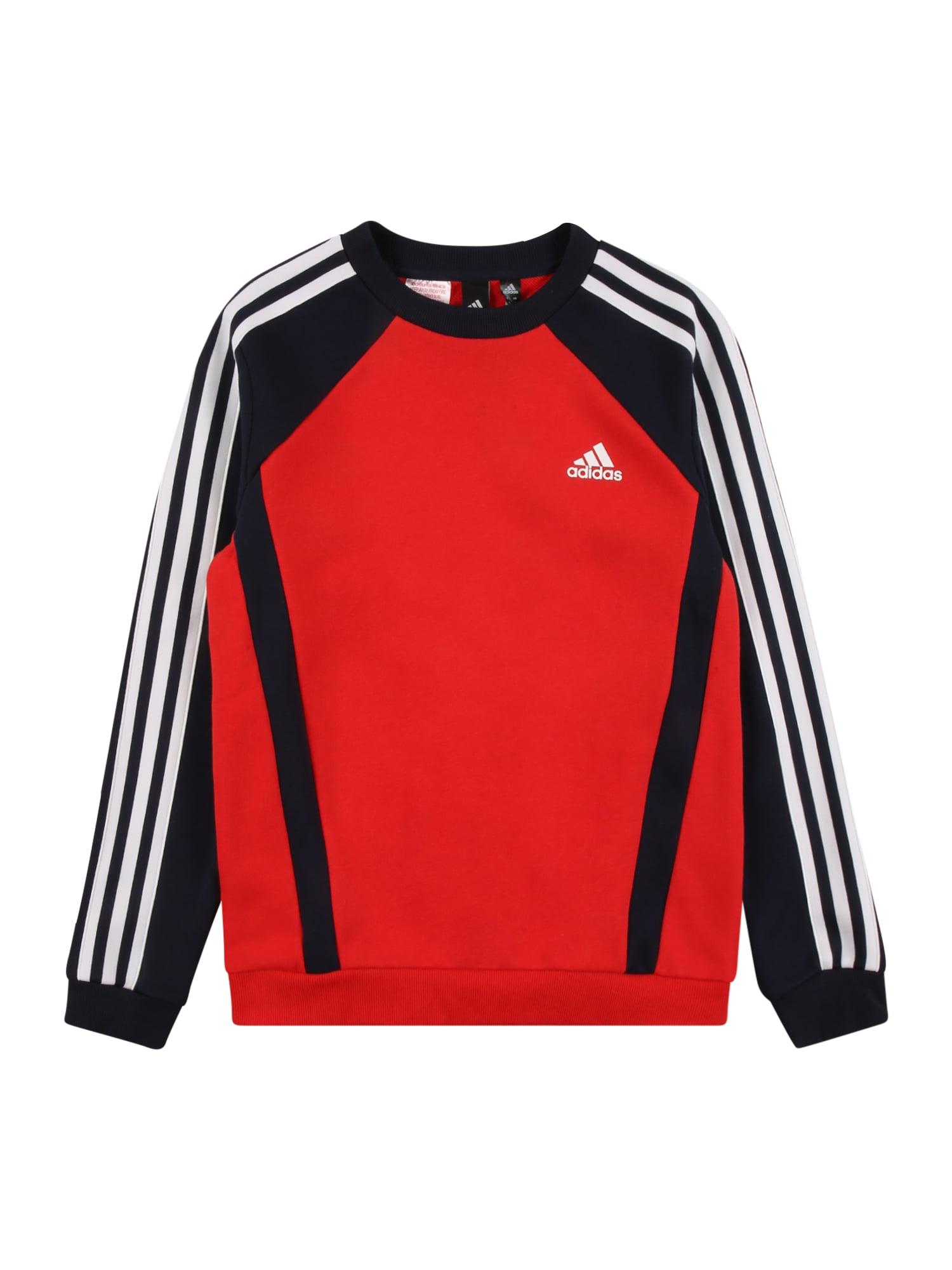 ADIDAS PERFORMANCE Sportinio tipo megztinis raudona / balta / nakties mėlyna