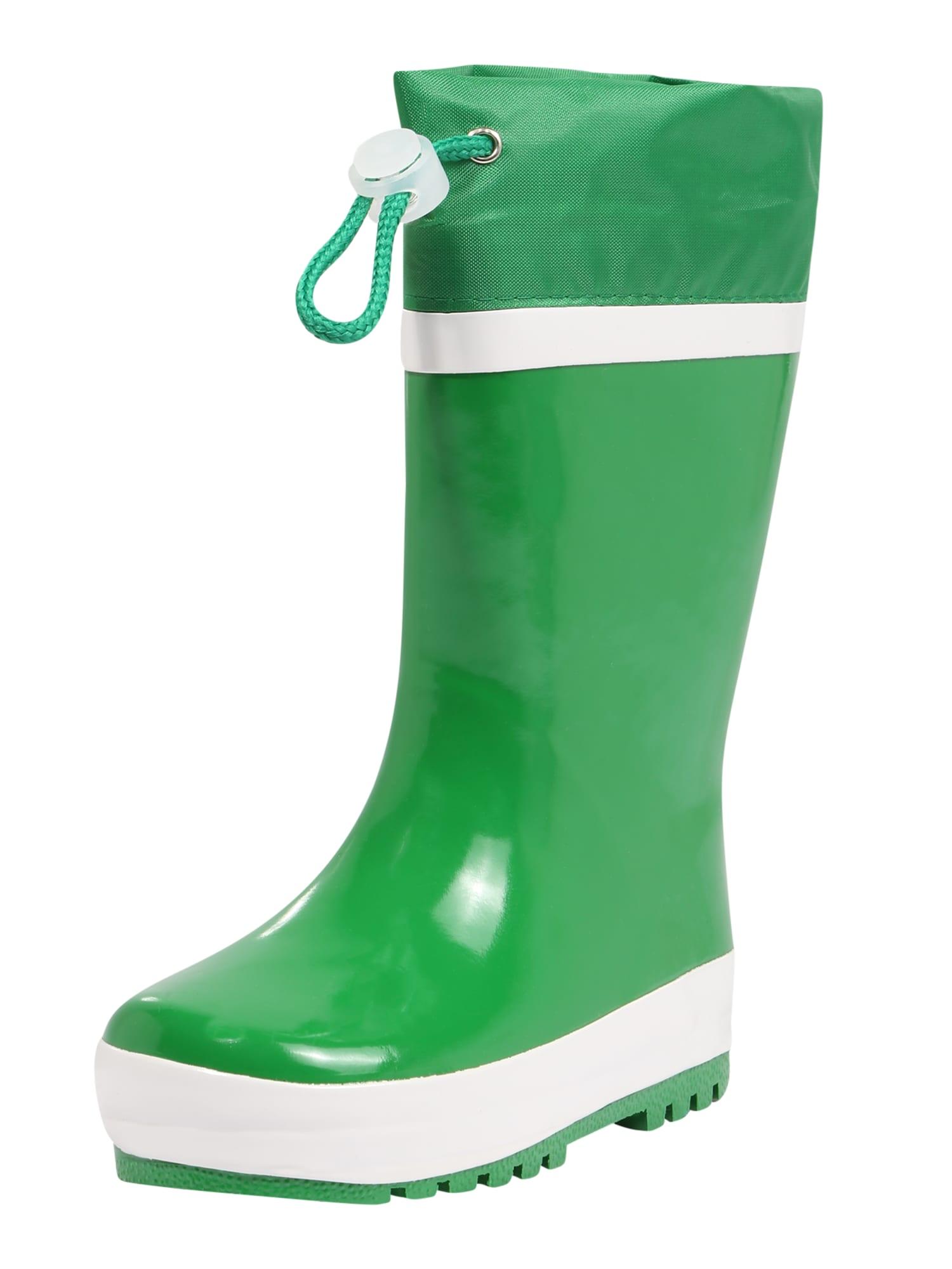PLAYSHOES Guminiai batai žalia / balta