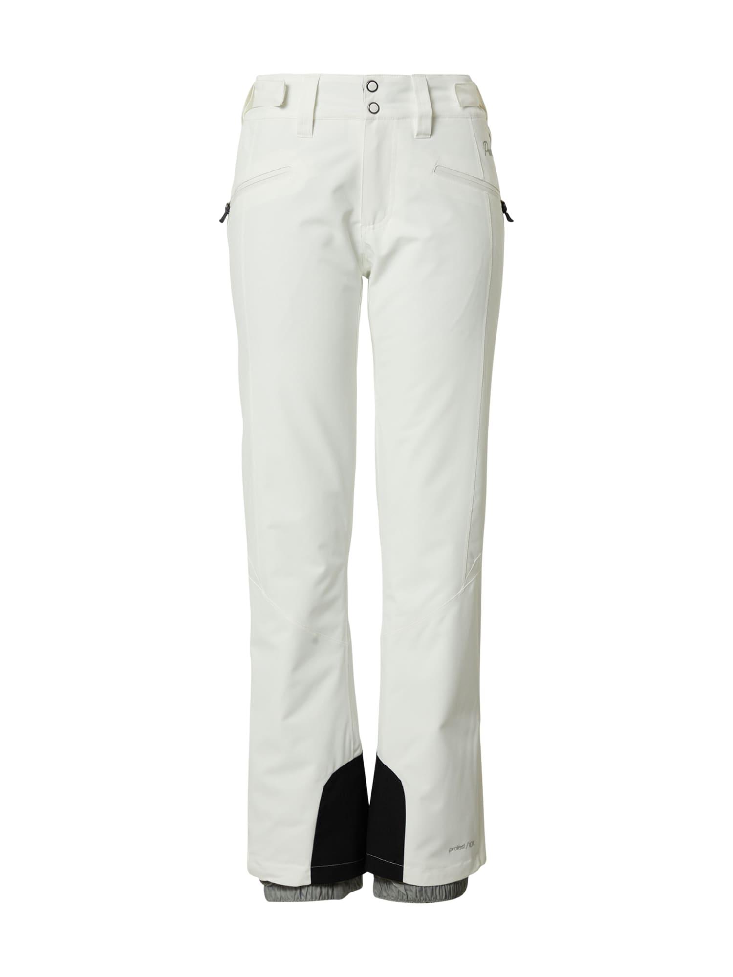 PROTEST Outdoorové kalhoty 'KENSINGTON'  bílá / černá