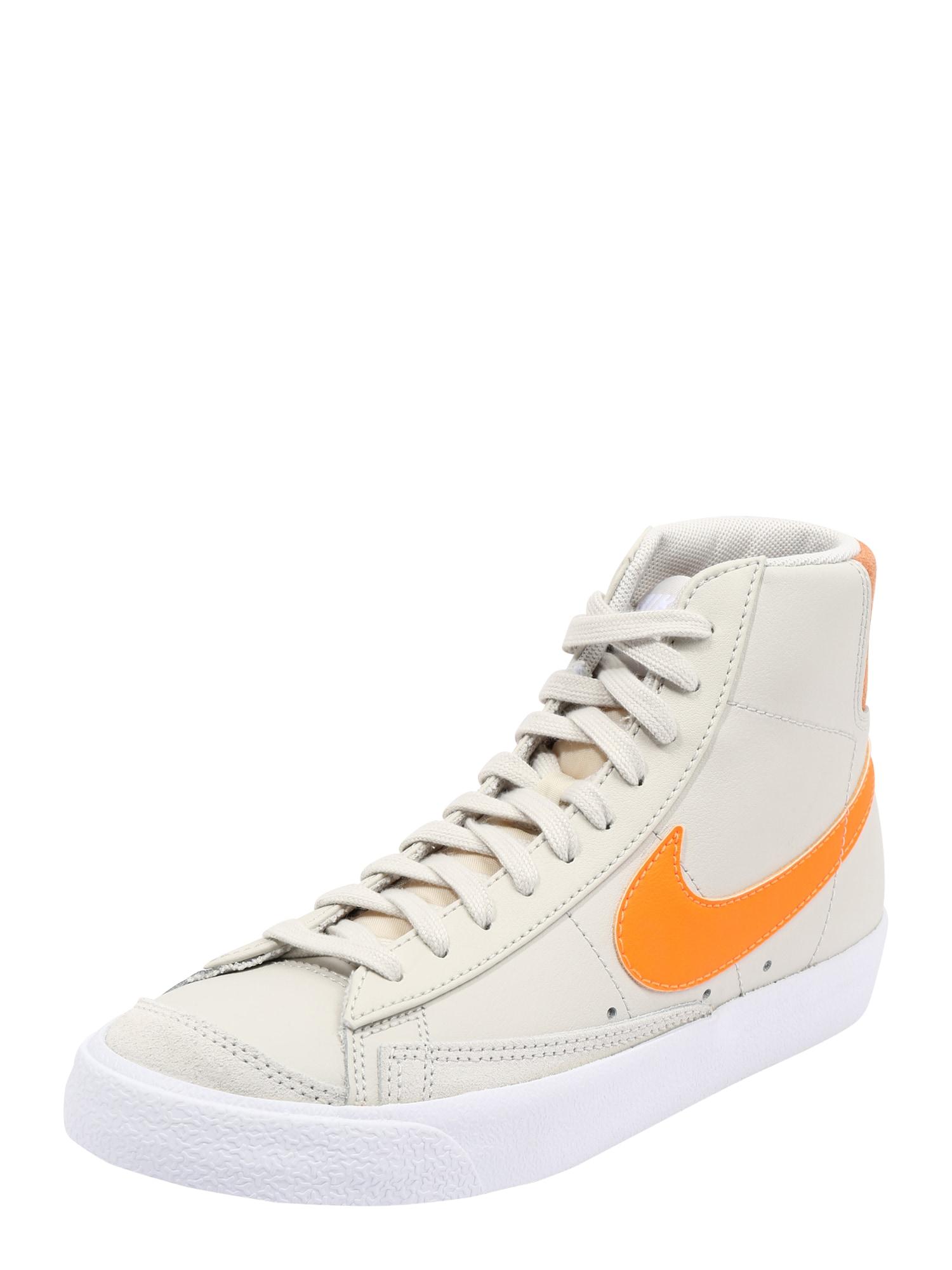 Nike Sportswear Kotníkové tenisky  bílá / oranžová