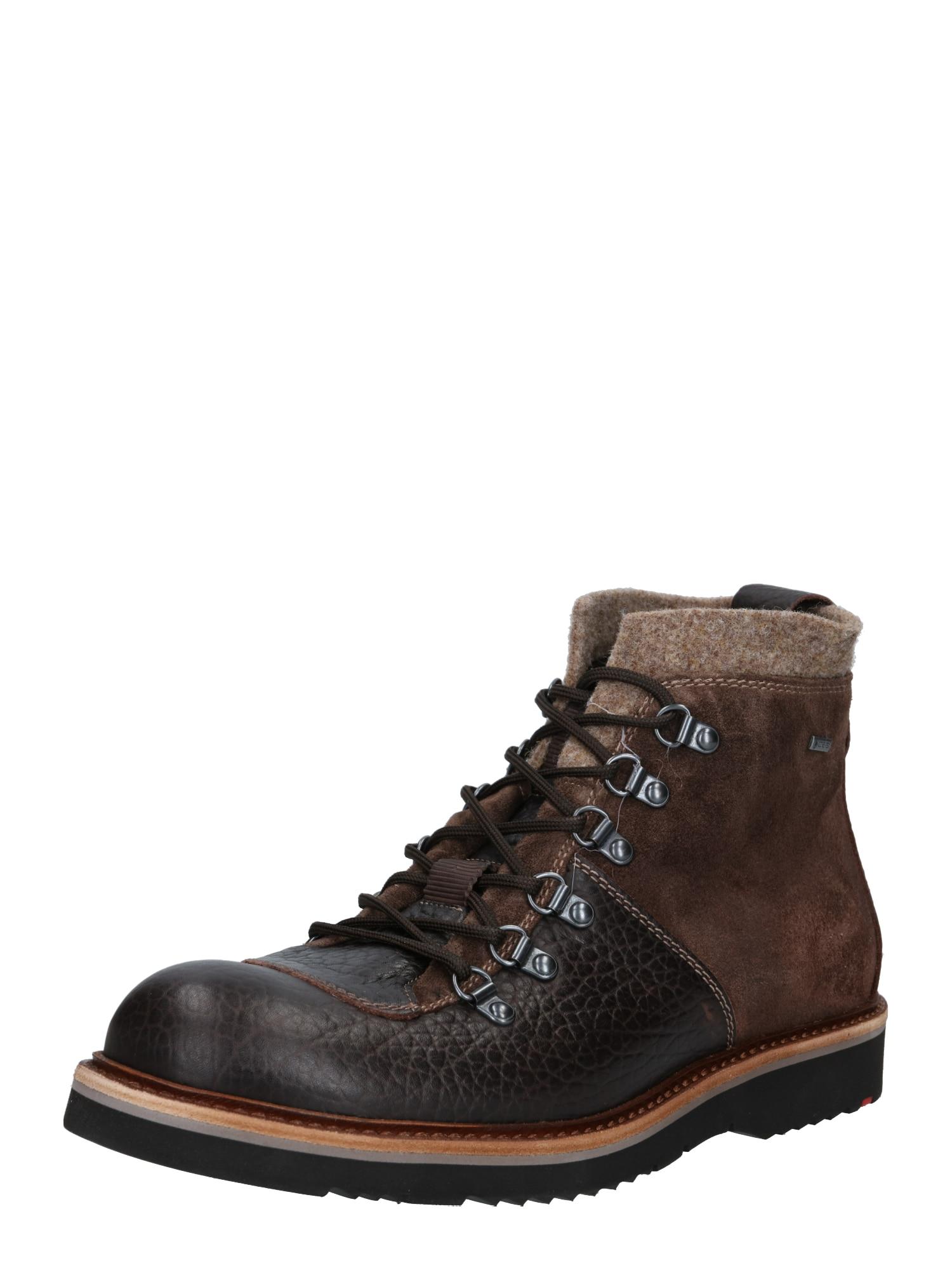 LLOYD Suvarstomieji batai tamsiai ruda / ruda